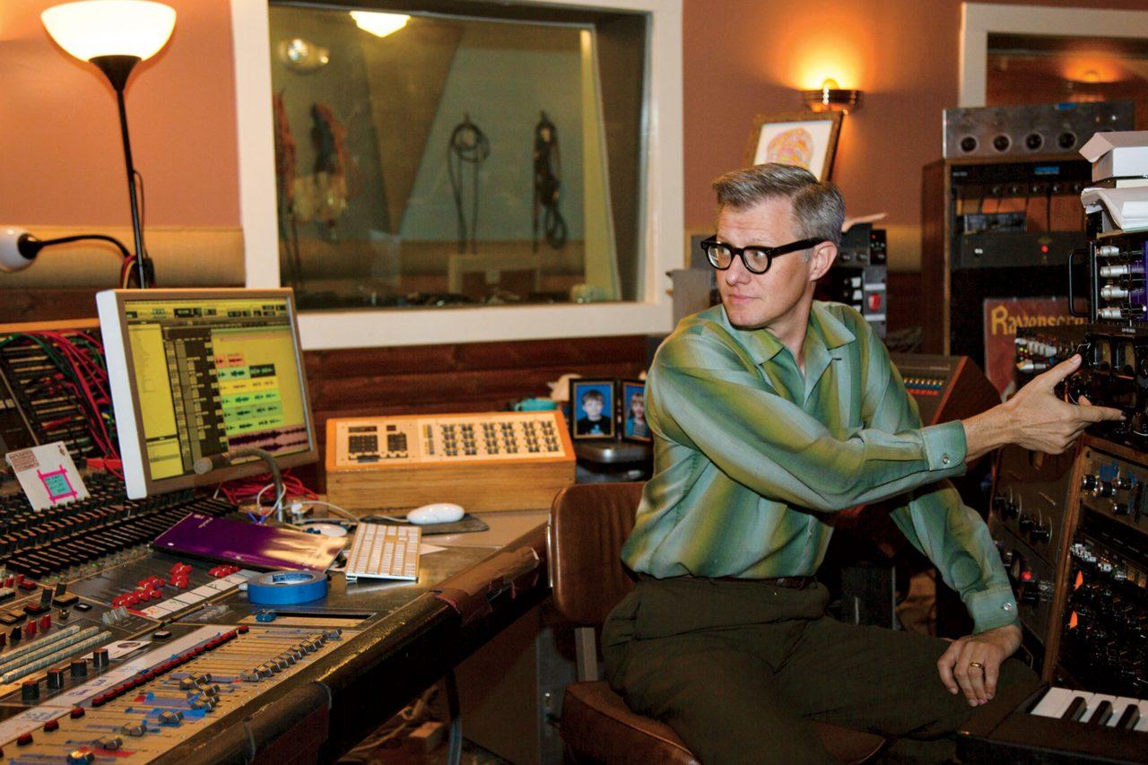 Bob Hoag at Flying Blanket Recording; Photo by Angelina Aragon