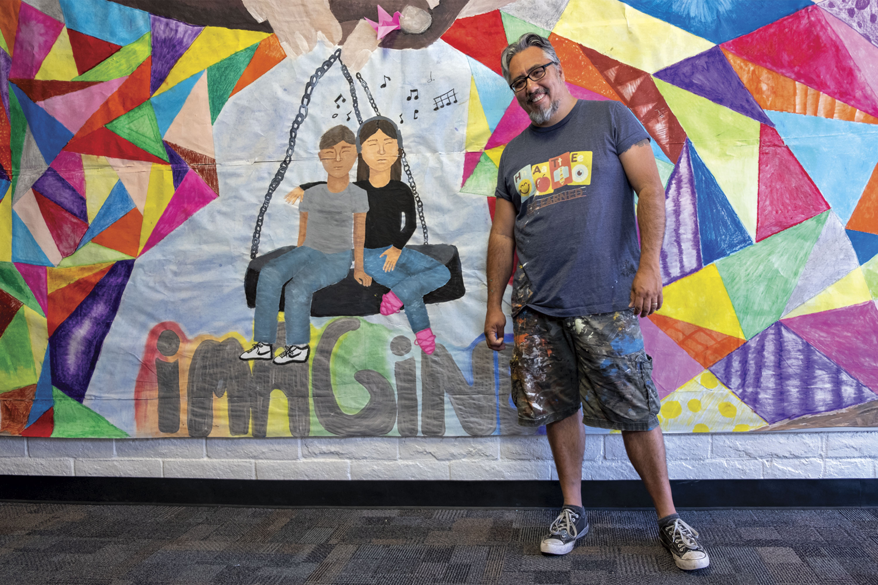 Artist mentor Hugo Medina shares some of his favorite pieces from Highland Arts Elementary's student art gallery.