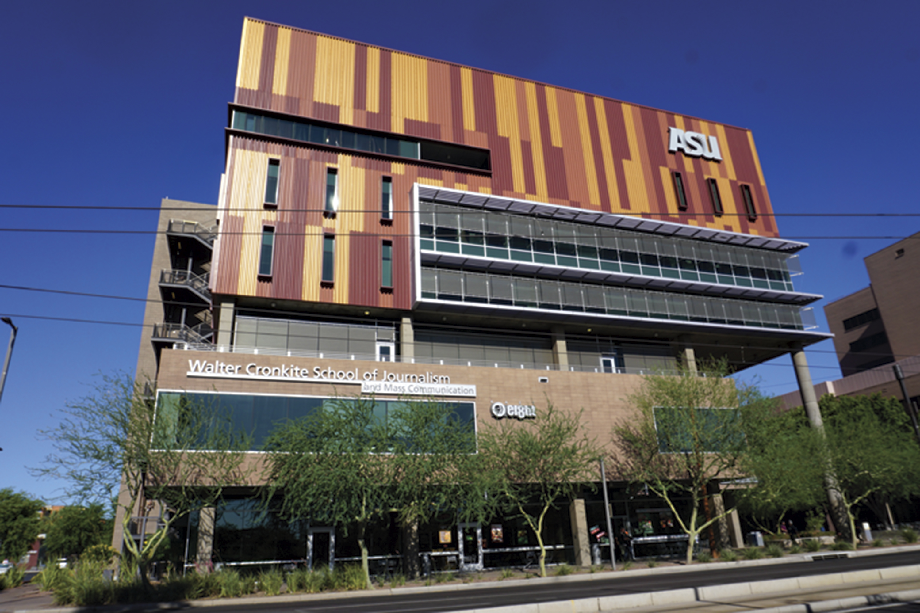 ASU Downtown Phoenix's journalism buildling; Photo courtesy Douglas C. Towne