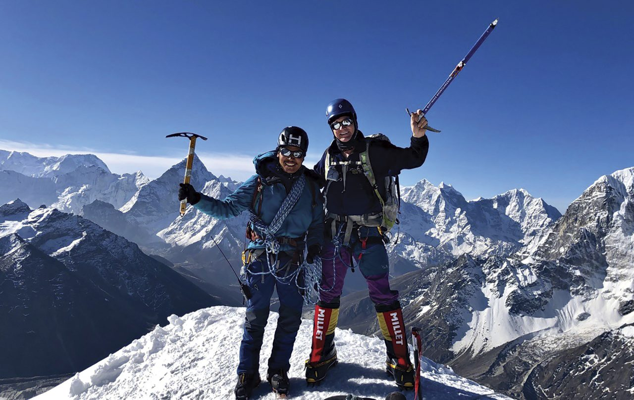 Dohring with his guide, Tendi Sherpa; Photo courtesy Ed Dohring