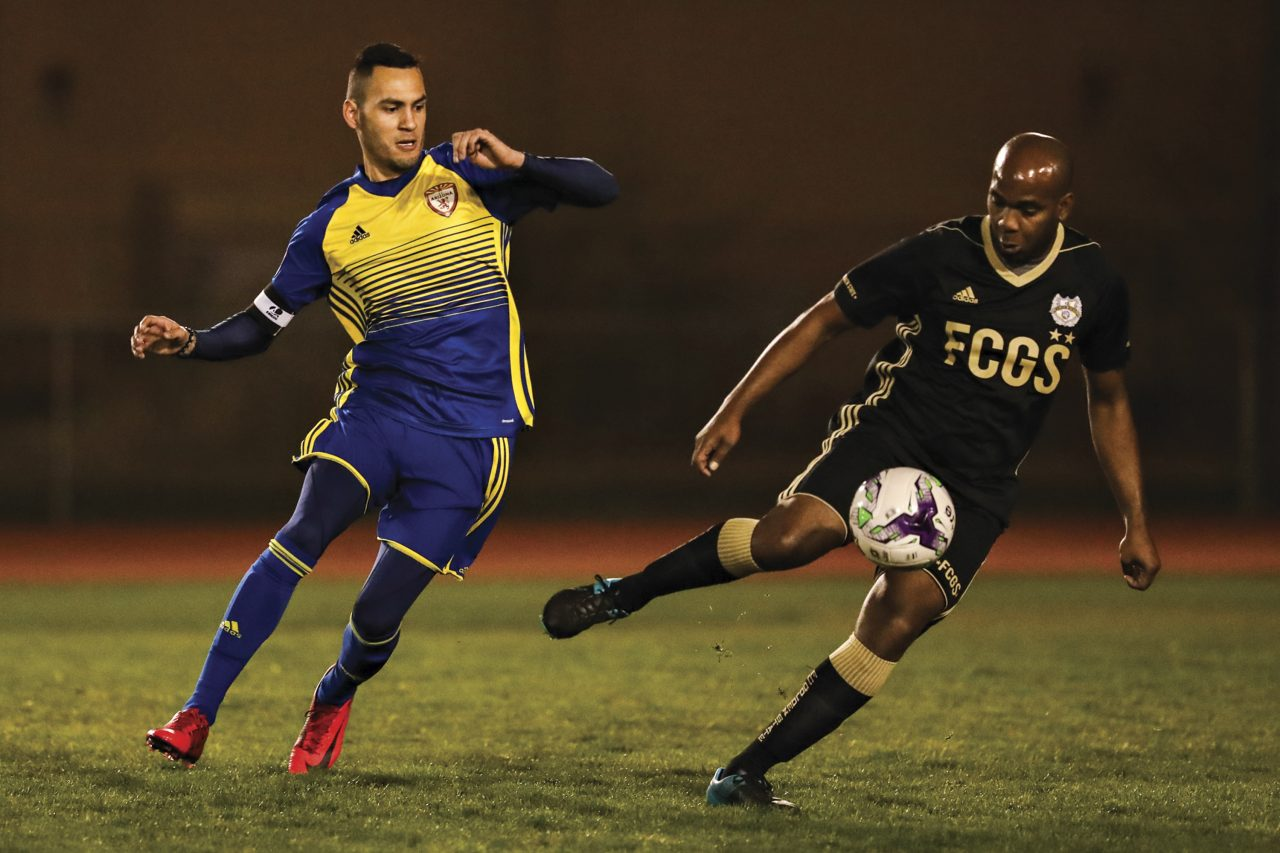 Phoenix Rising Football Club vs. F.C. Golden State Force at Mesa Community College, 2018; Photo by Arianna Grainey