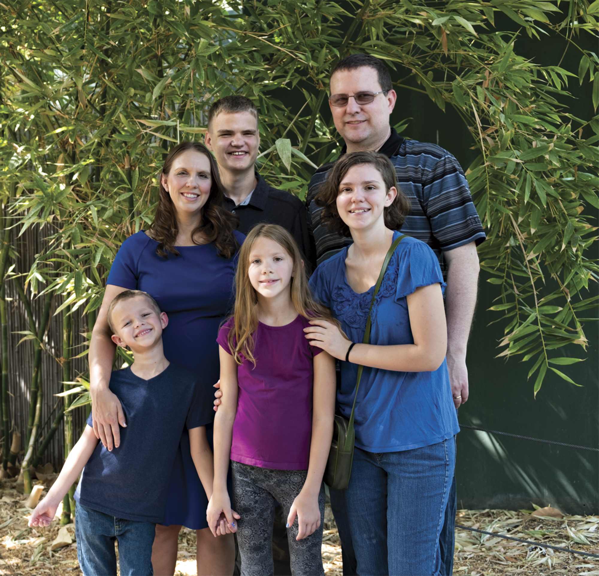 Michelle and Jesse Udall with, from left to right, children JD, Brian, Adelyn and Louisa.; Photo by Mirelle Inglefield
