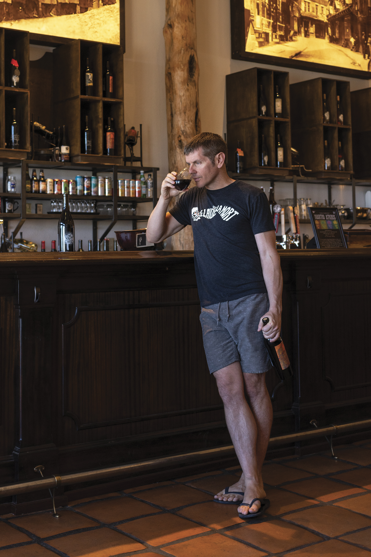 Tim White at Four Eight Wineworks; Photo by Mark Lipczynski