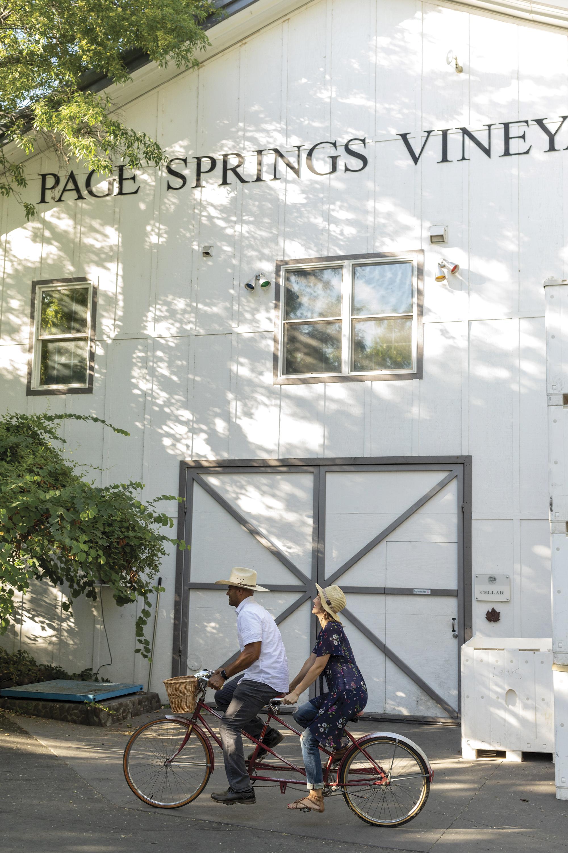 Page Springs Cellars; Models Colleen Hartnett, Sasha Hunter/Ford Robert Black Agency; Photo by Mark Lipczynski