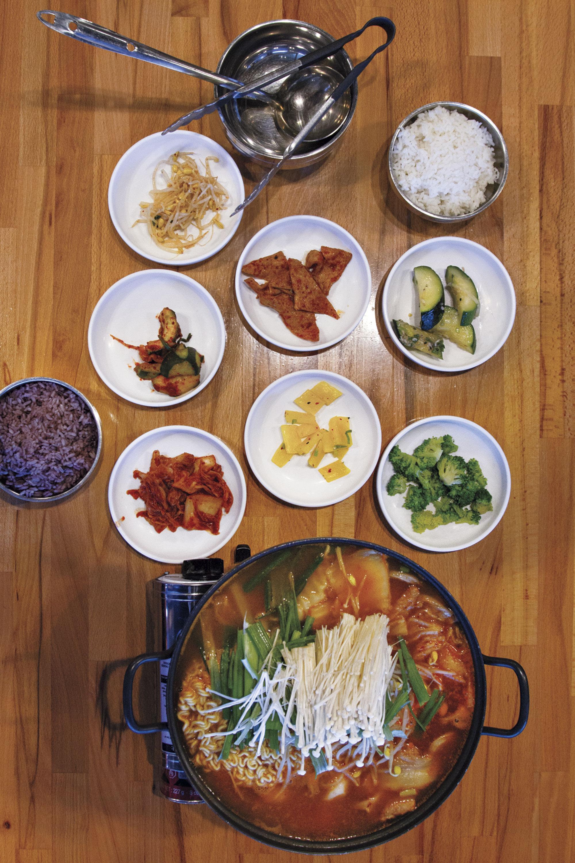 Korean Army Stew at Koreatown; Photo by Mirelle Inglefield