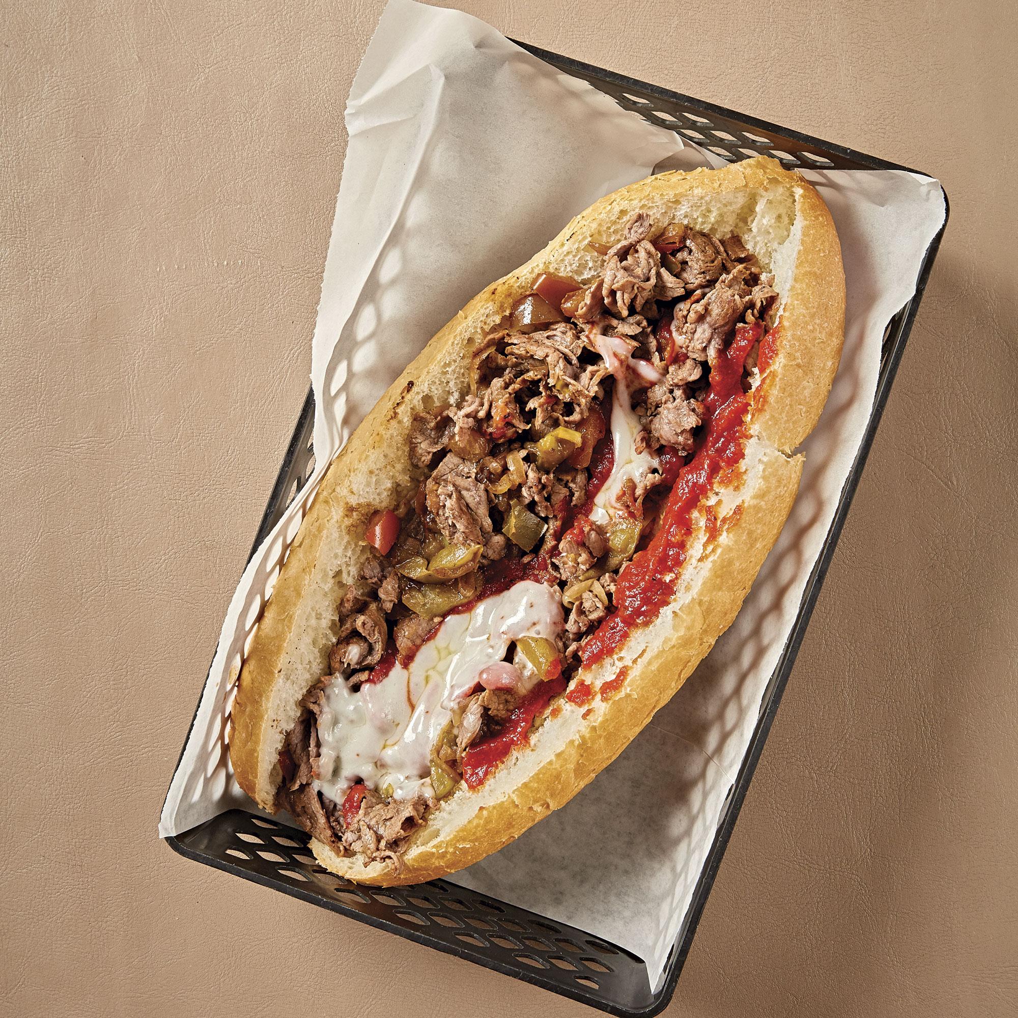 Philly cheesesteak at Casella's Italian Delicatessen; Photo by David B. Moore