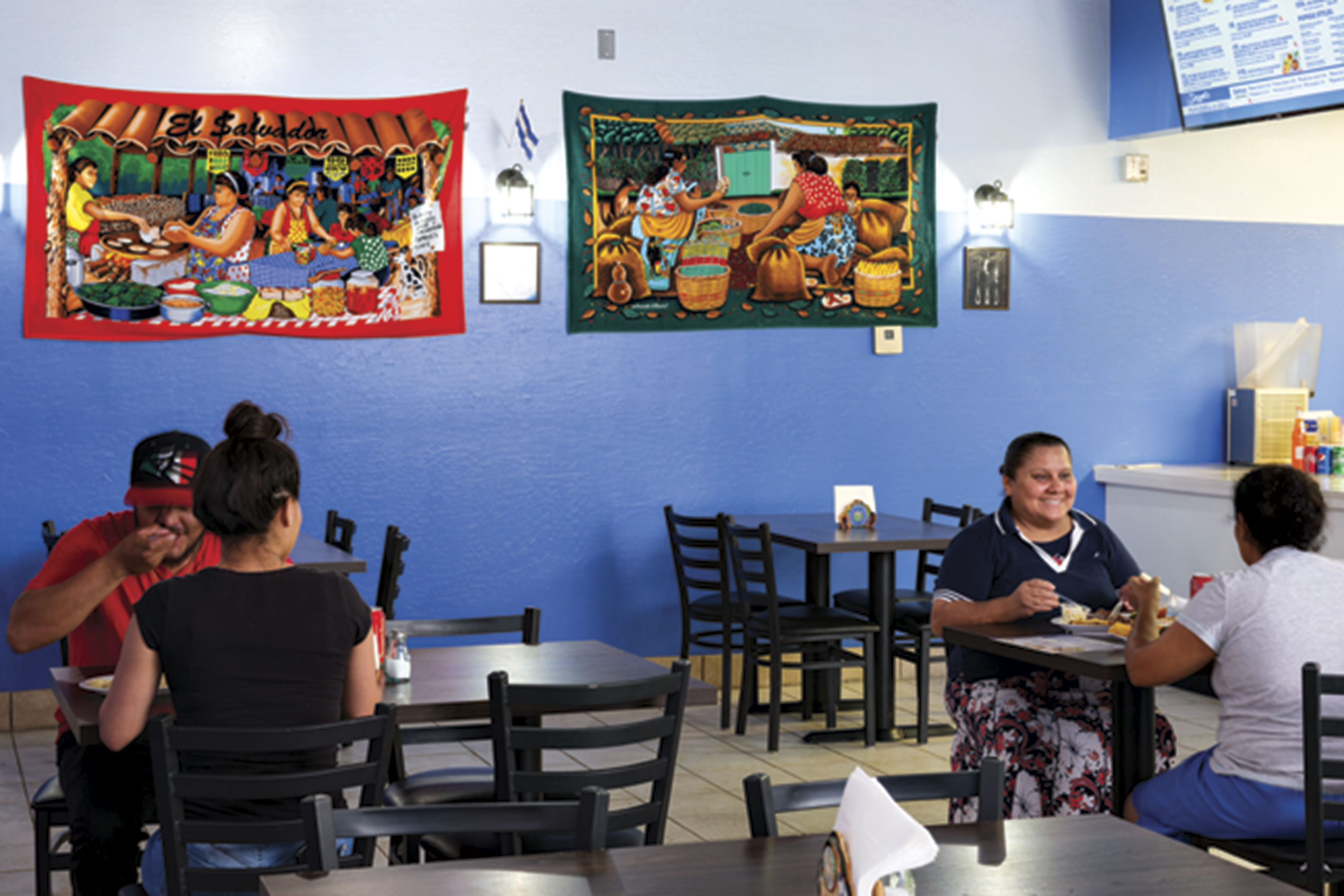 interior of Seydi's Pupuseria & Grill; Photography by David Blakeman