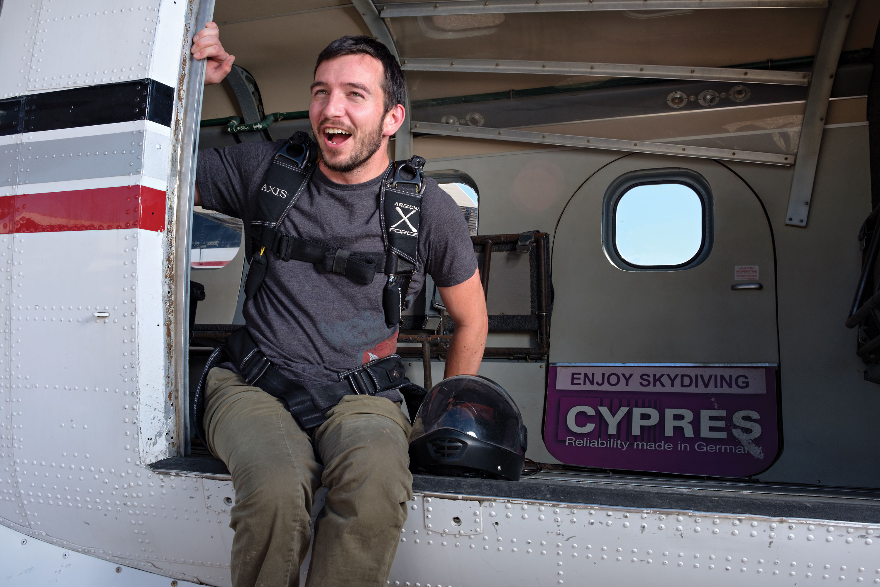 Jarrett Martin at Skydive Arizona near Eloy; Photo by Michael Woodall