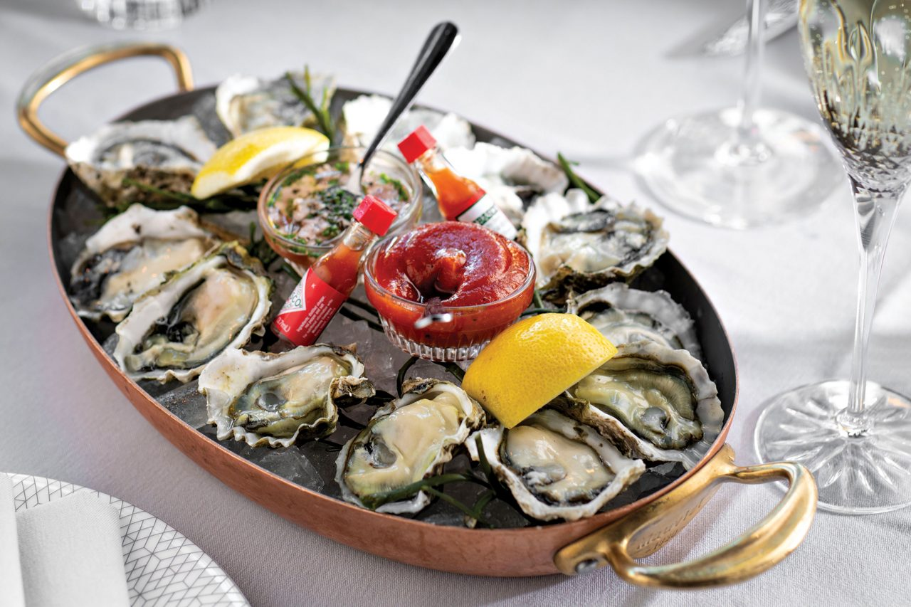 Oysters on the half shell; Photography by Rob Ballard