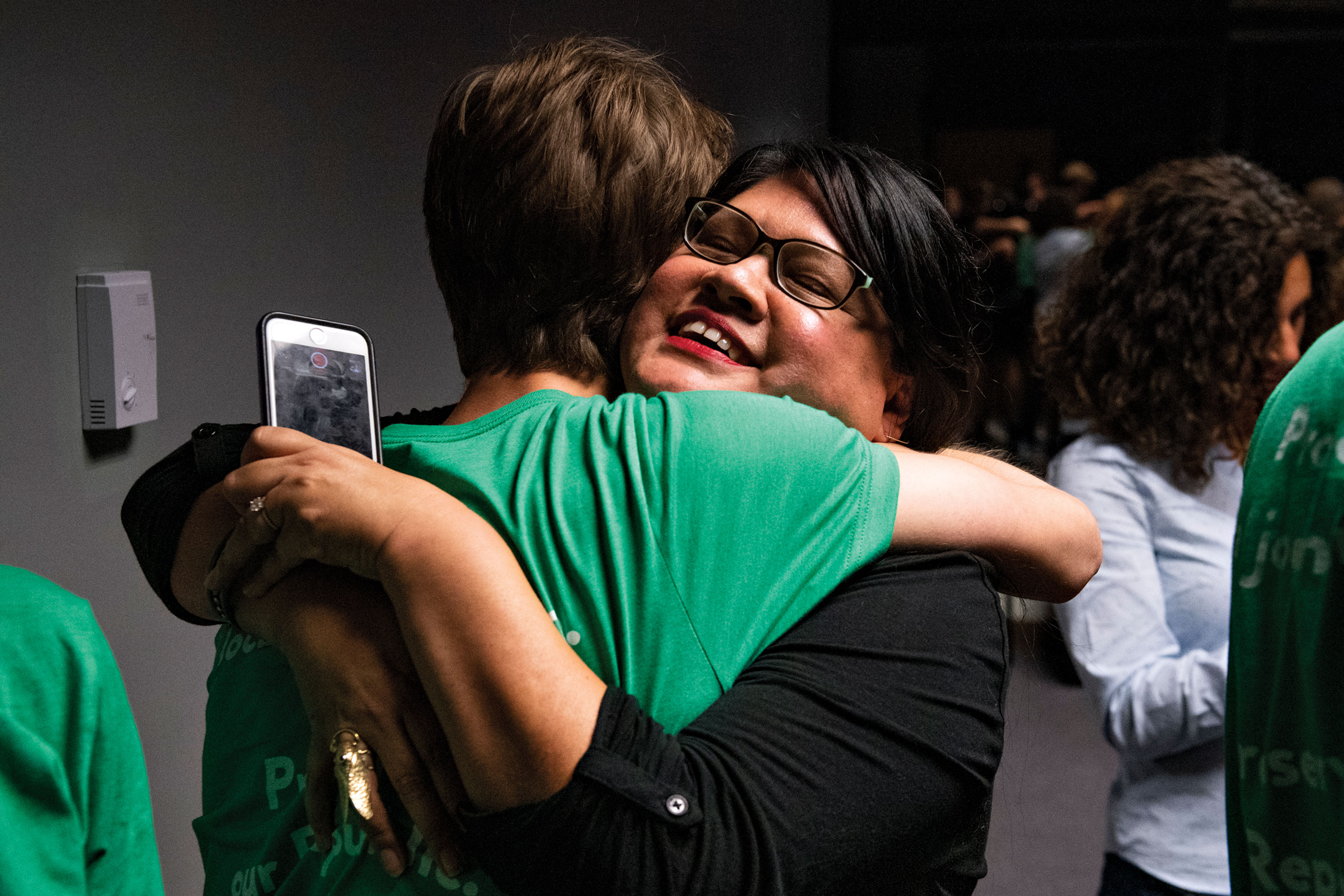 Scenes from the night of the unionization vote on October 10; Photos by Ben Moffat