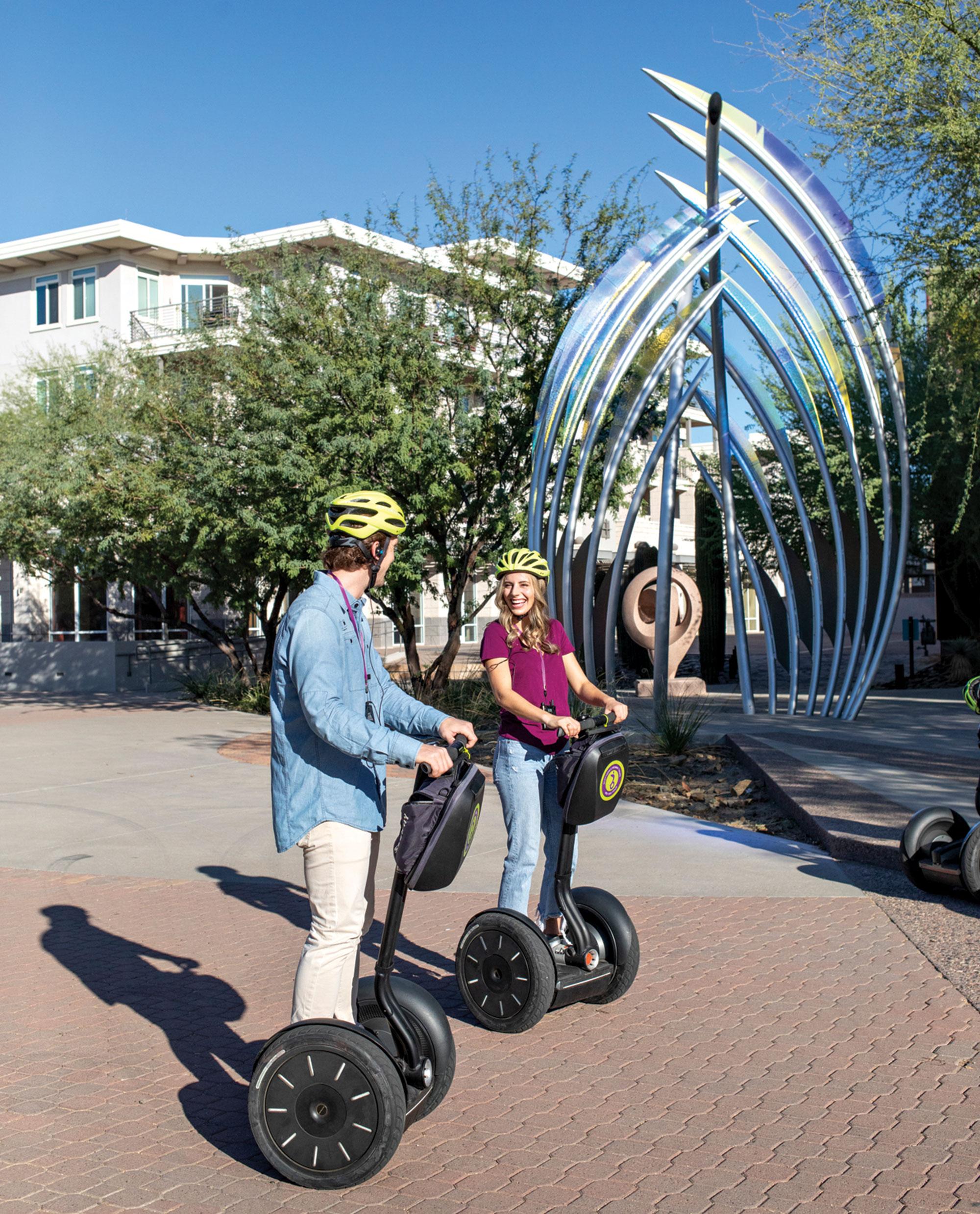 Scottsdale Segway Tours; Photo by Mark Lipczynski; models: Taylor McGlone & Kyle O'Malley/Ford Robert Black Agency