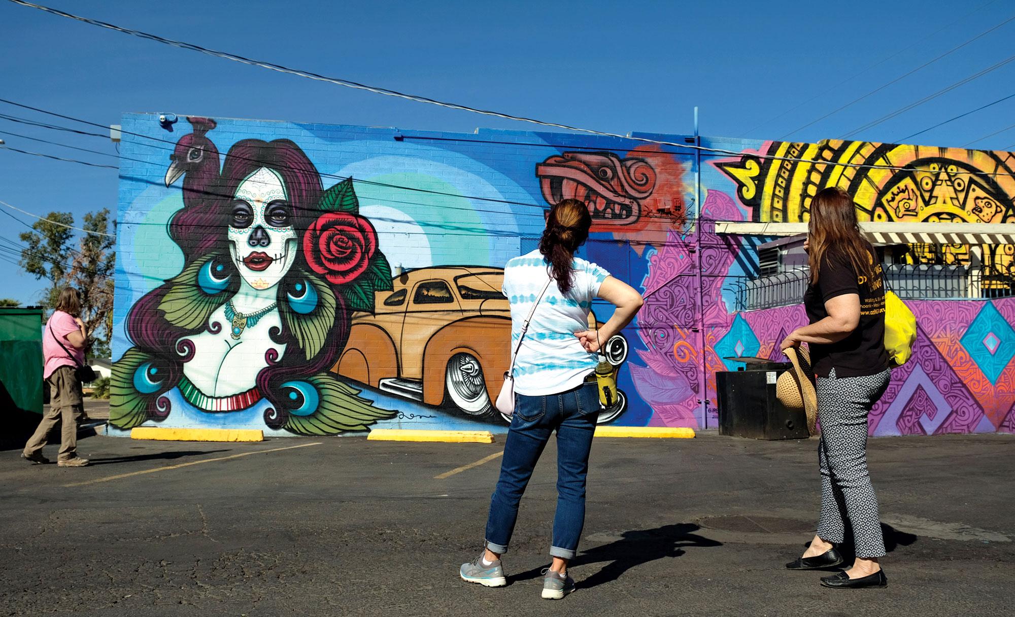 "Mural by Lalo Cota and Thomas ""Breeze"" Marcus; Photo by Eric Cox"