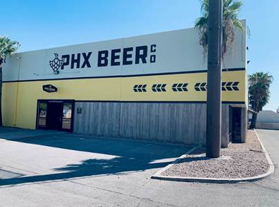 PHX Beer Co. Serves Craft Brew in a Renovated Warehouse