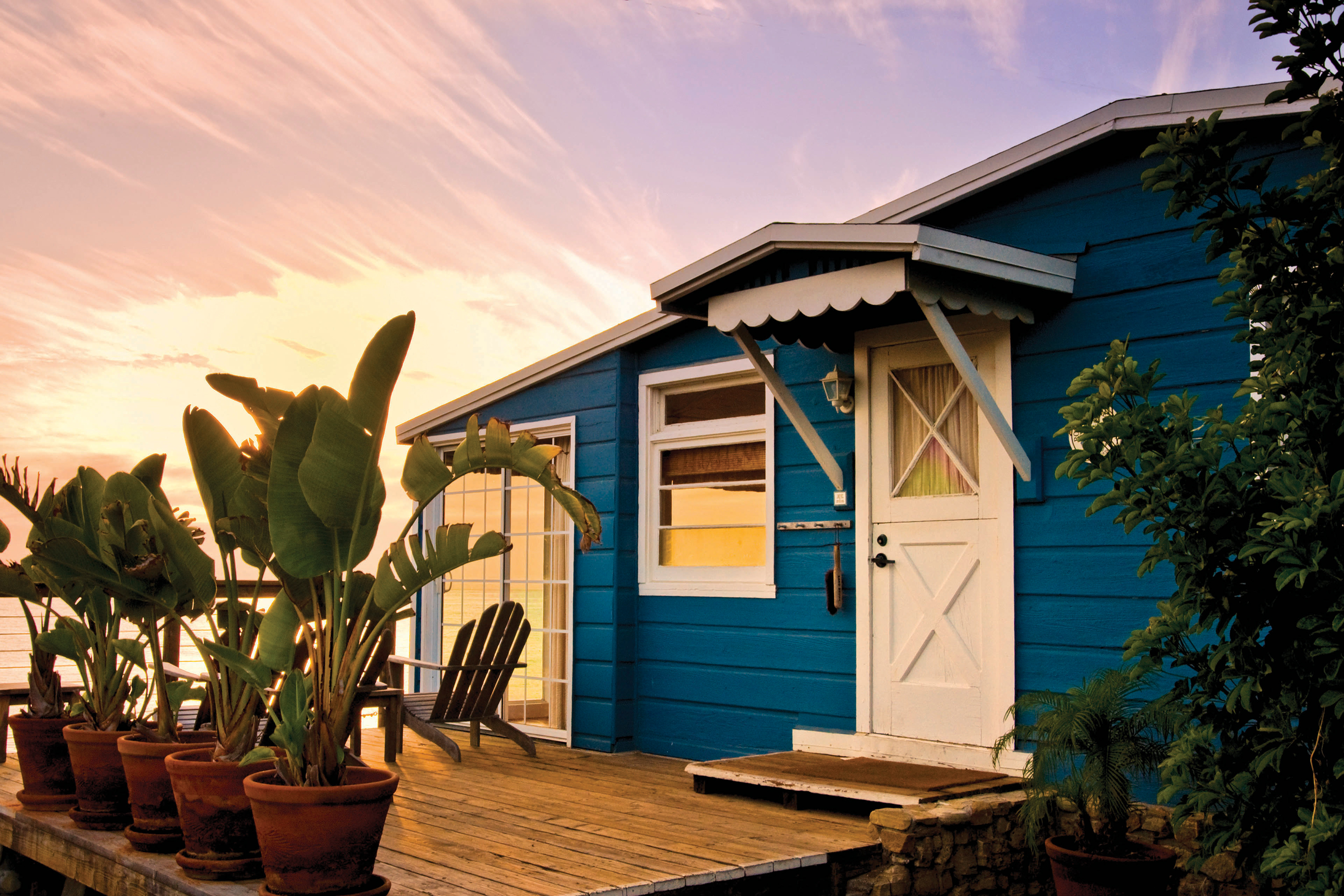 A beach bungalow at Crystal Cove; Photo courtesy Visit Newport Beach