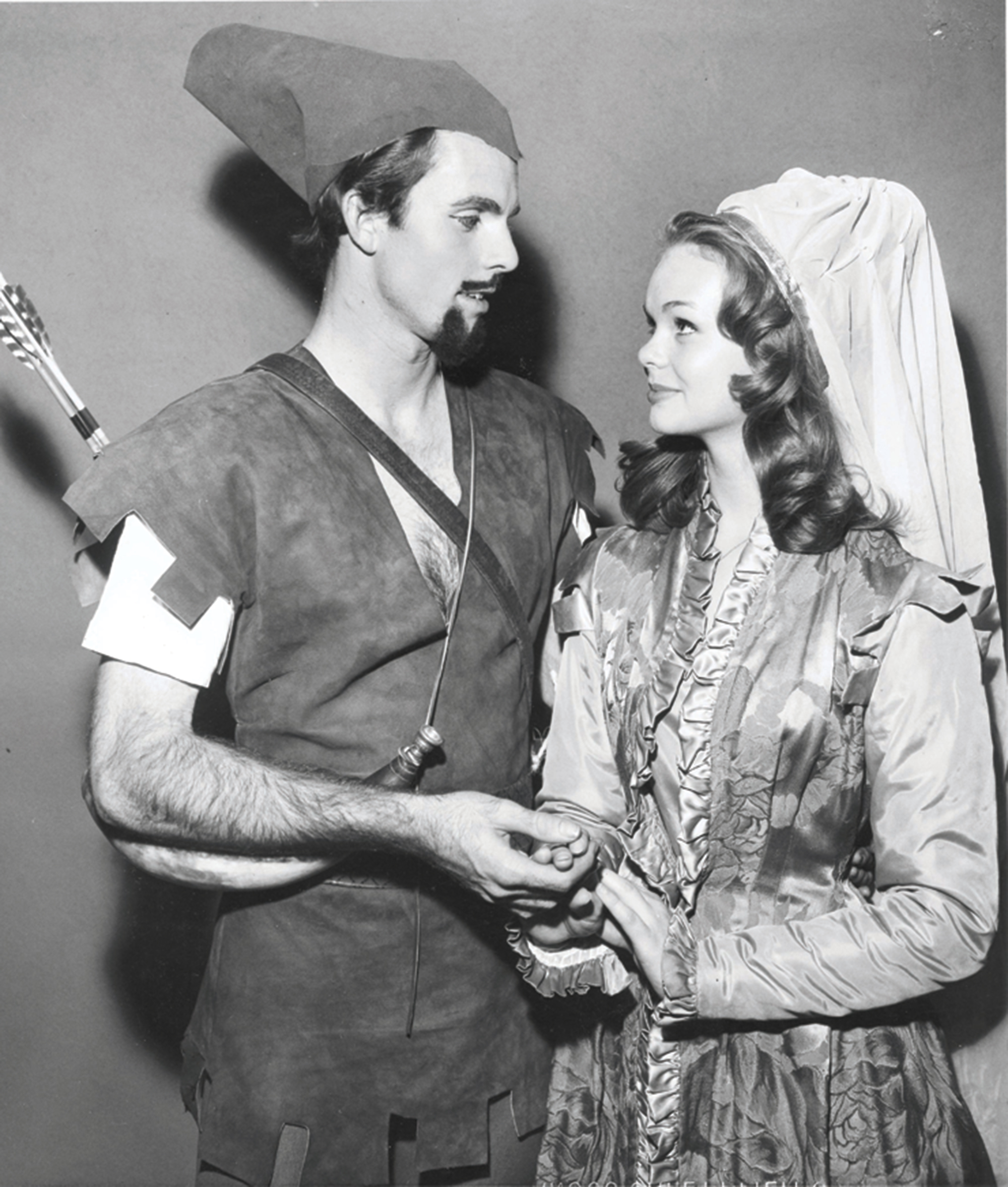 Top: A production of Mousetrap, 1959; Bottom: Eric Karson and Lynda Day George in Robin Hood, 1960; Photos courtesy the Phoenix Theatre Company