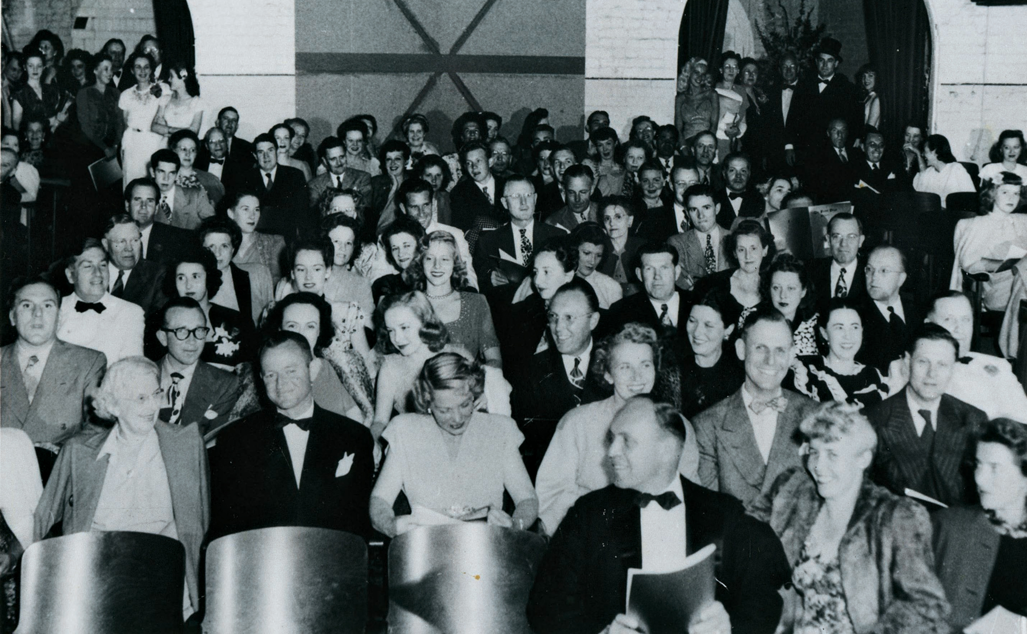 theater patrons in the Old Coach House, 1940; Photo courtesy the Phoenix Theatre Company