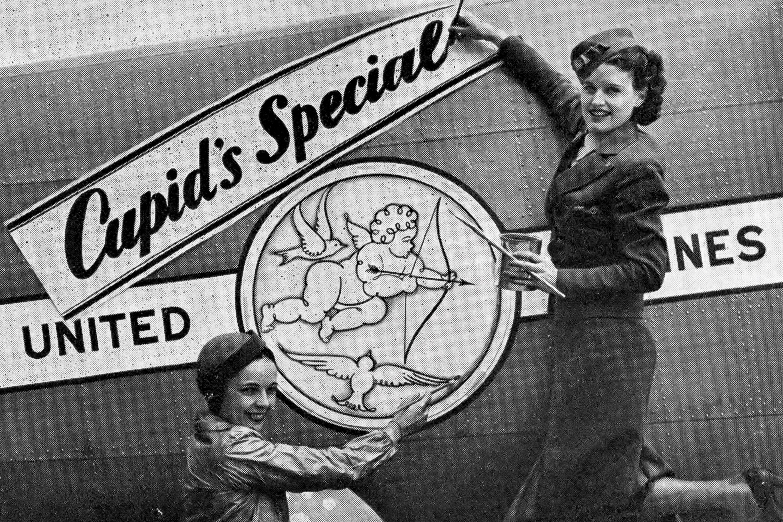 Cupid's Special airplane, 1939; Photo courtesy Popular Aviation magazine
