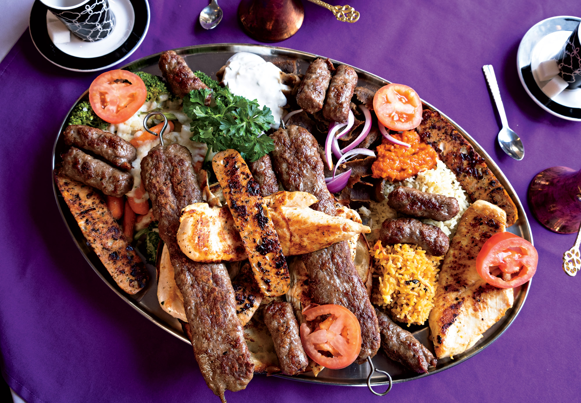 Bosnian sausage plate at Chef Alisah's; Photo by Eric Cox