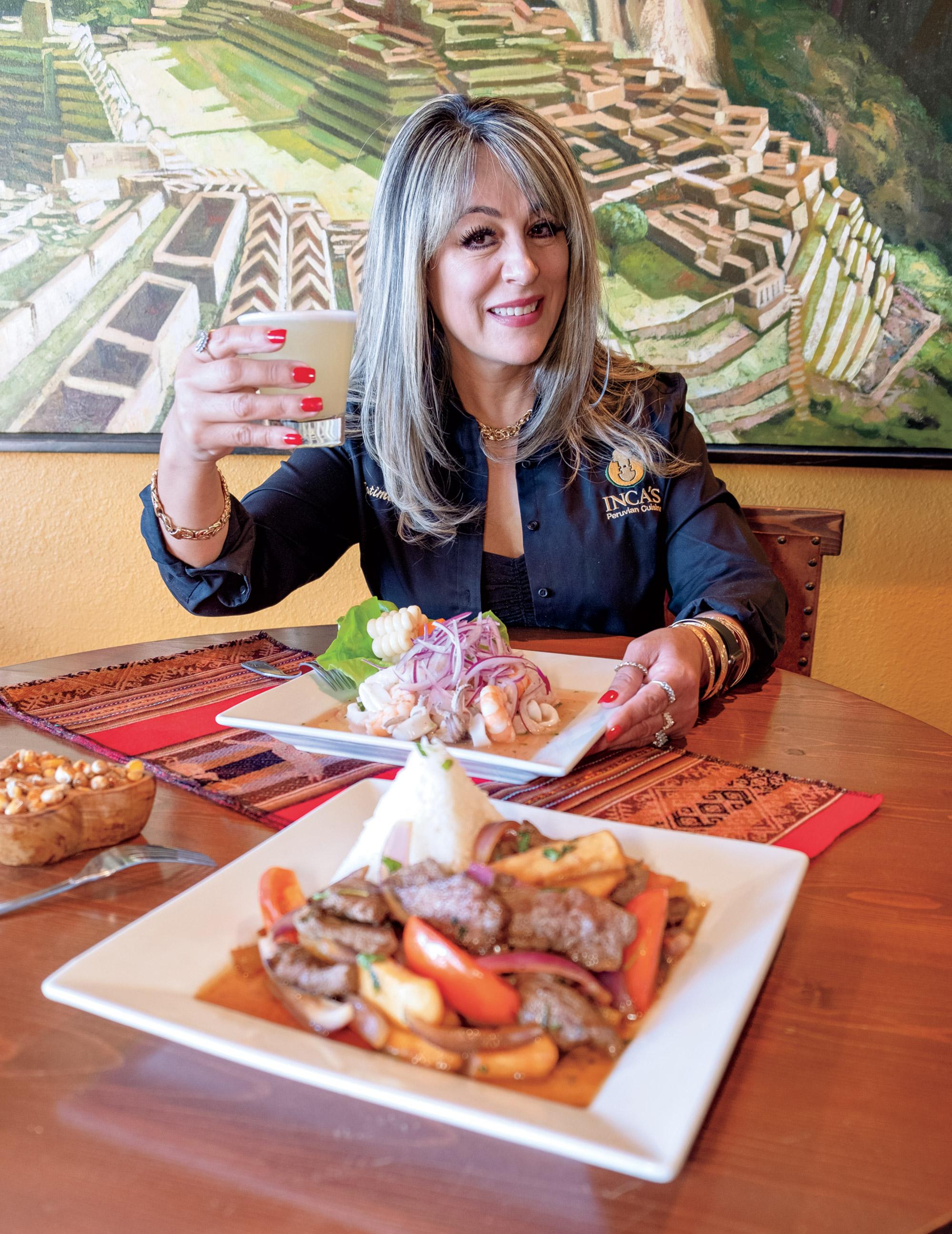 Fatima Campos, owner of Inca's Peruvian Cuisine; Photo by Eric Cox