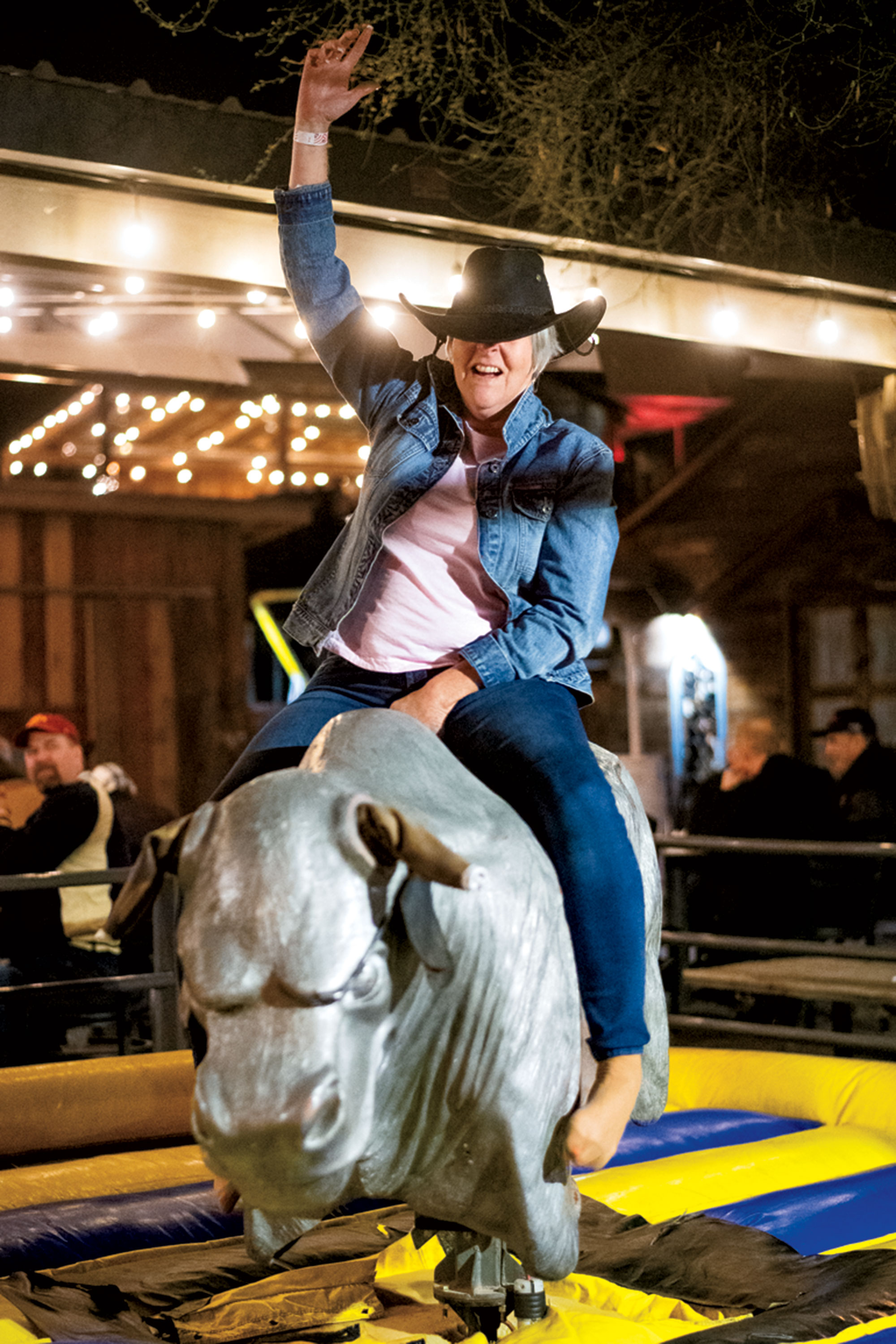 Mechanical bull at The Buffalo Chip Saloon; Photo by Ben Moffat