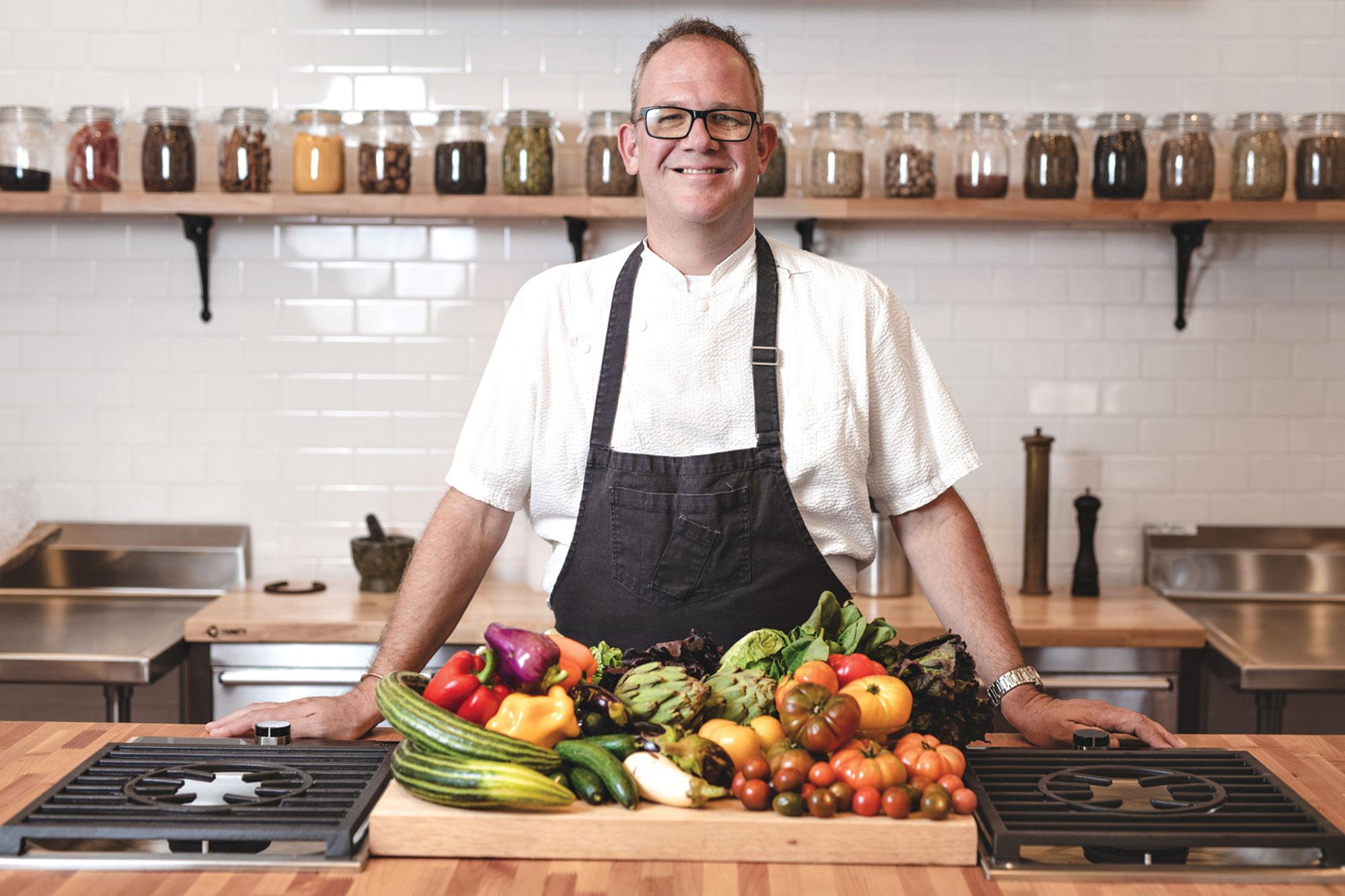 Chef James Porter; Photo courtesy Terra Farm + Manor