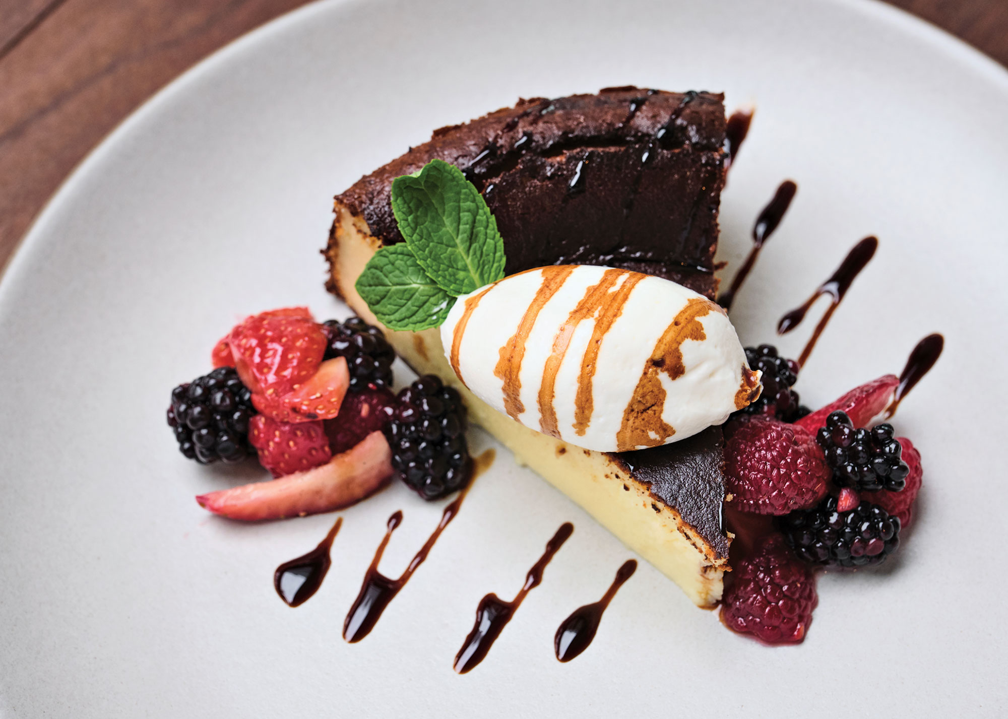 Burnt Basque cheesecake; Photography by Kyle Ledeboer