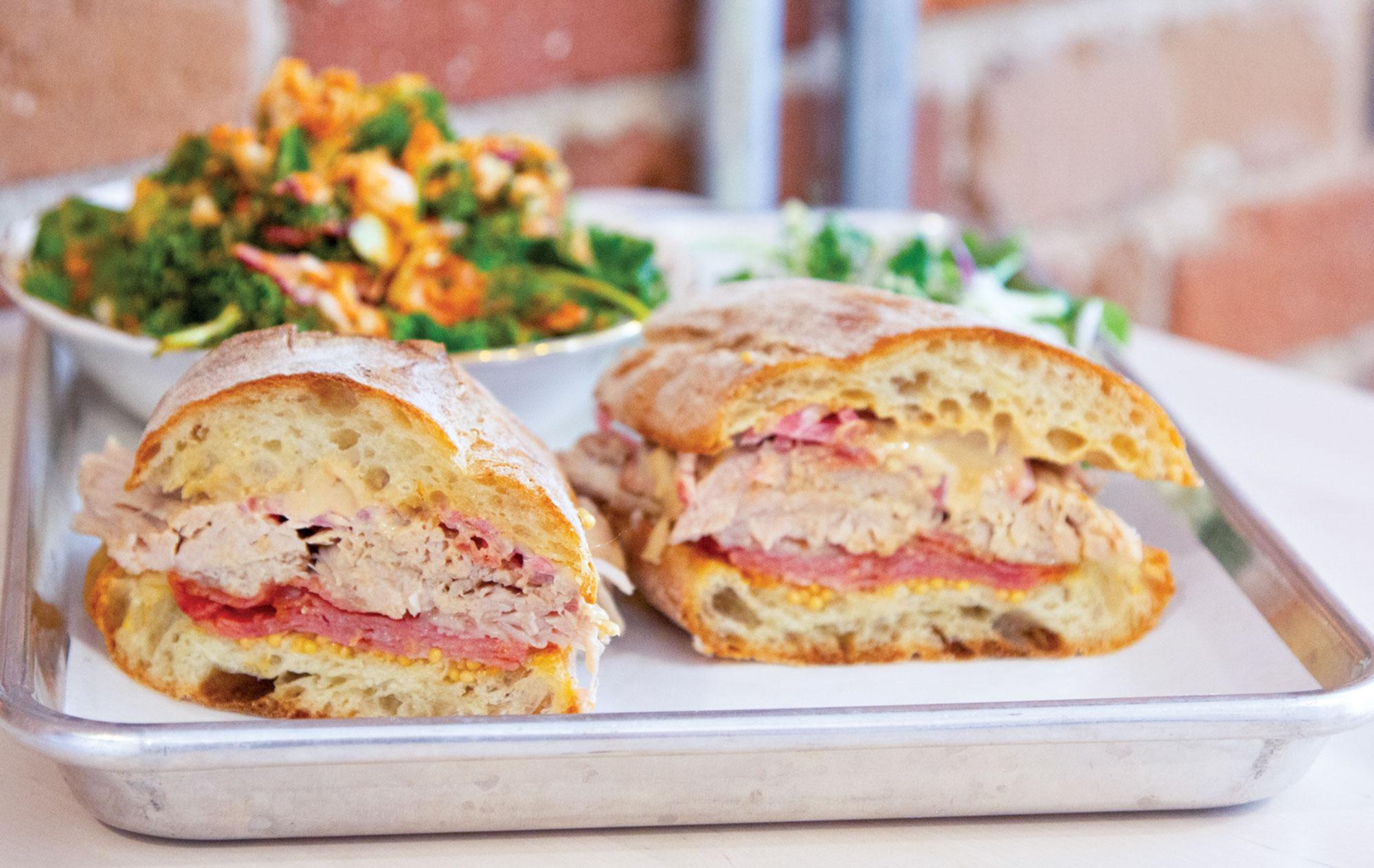 Country Devil sandwich at Tasso; Photo by Leah Lemoine