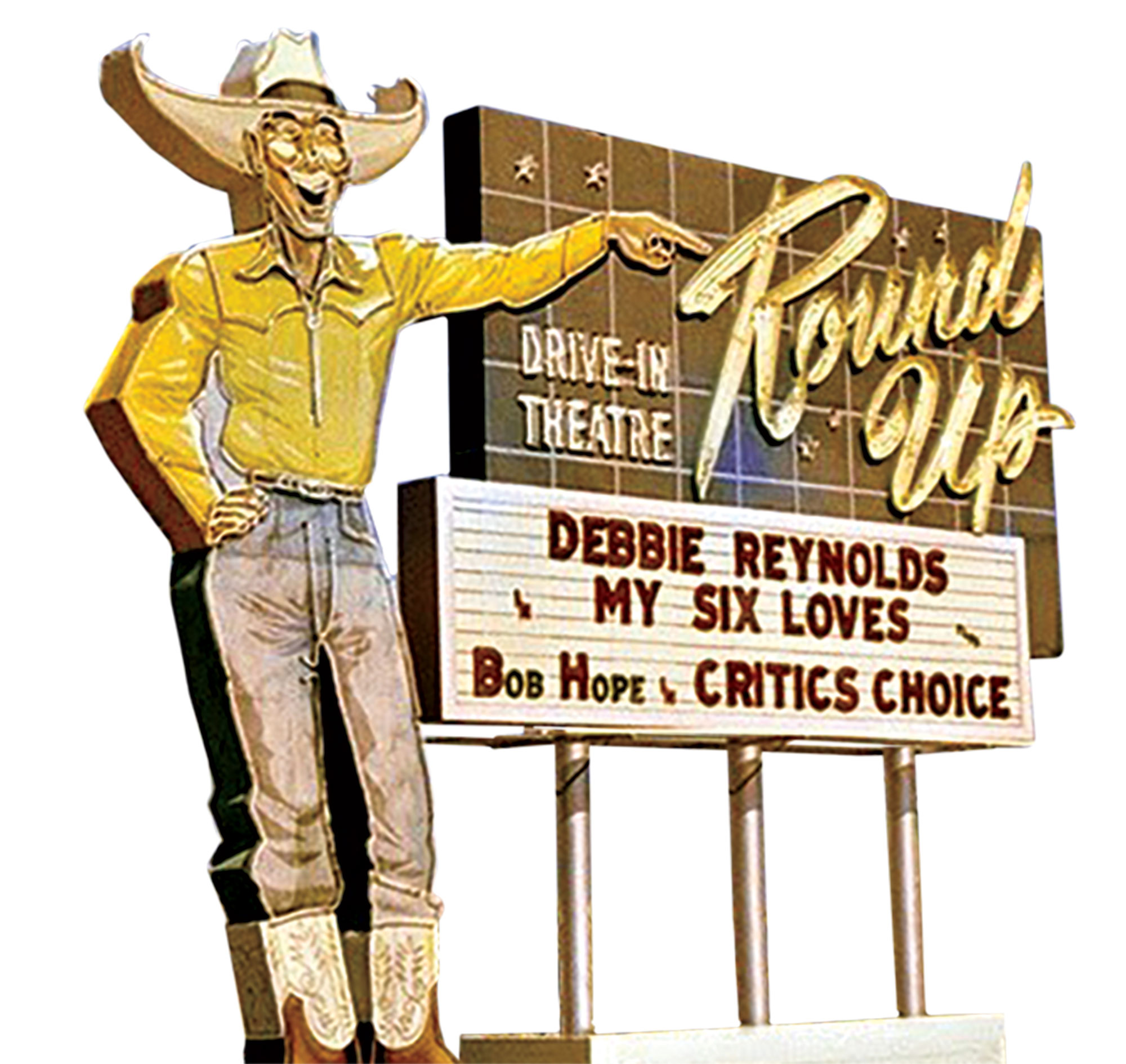 Round-Up Drive-In, 1963; Photo courtesy Douglas C. Towne