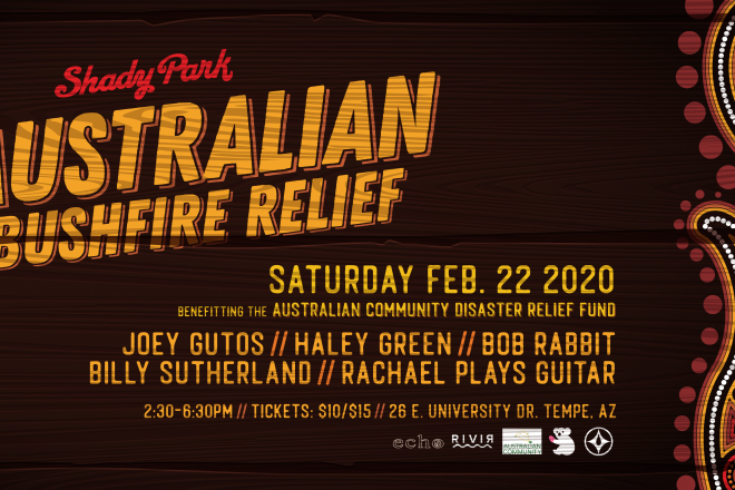 Have Fun for a Good Cause at the Australian Bushfire Relief Show at Shady Park