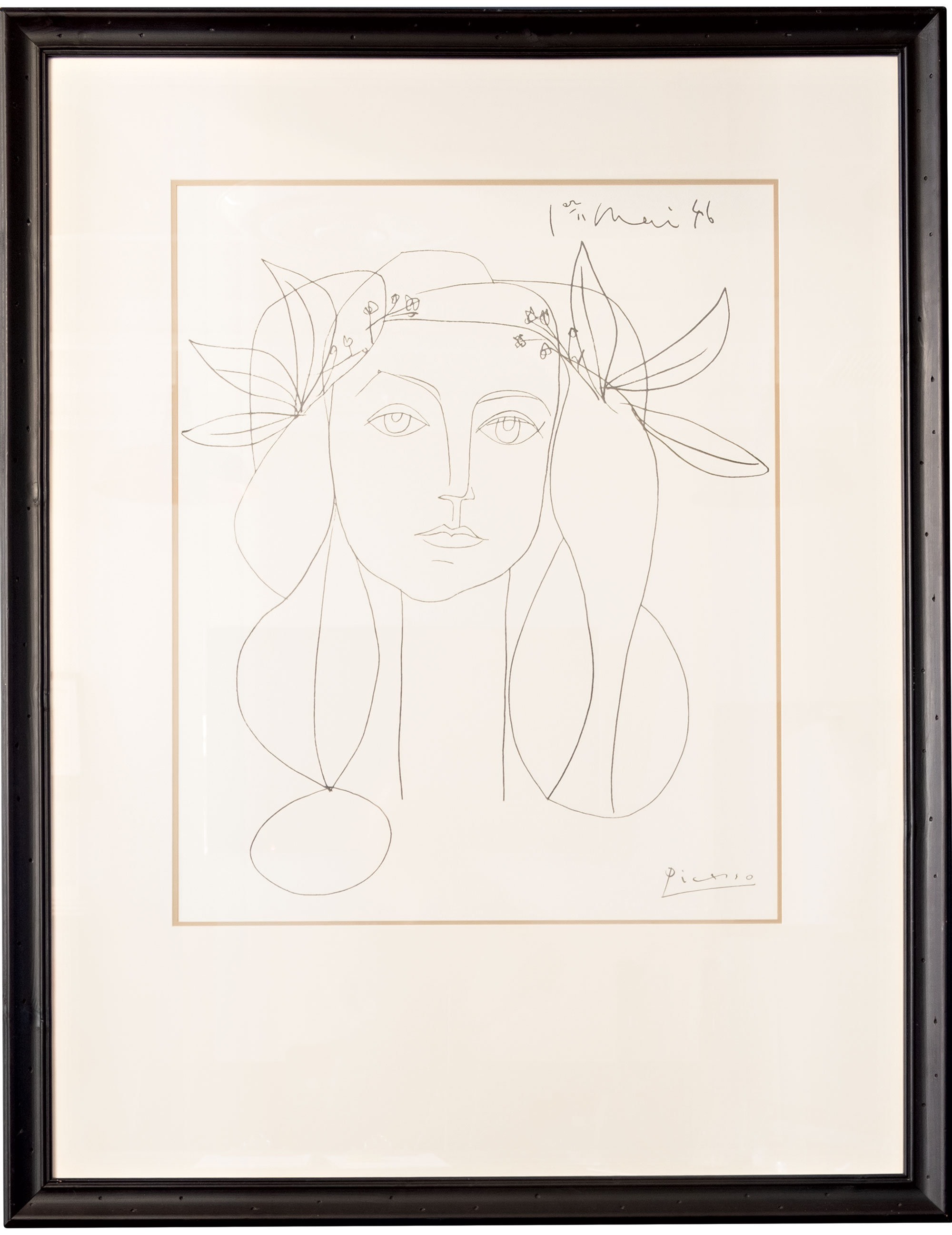 This untitled drawing by surrealist legend Pablo Picasso hangs in the Scottsdale clinic of Dr. Lewis Albert Andres, a plastic surgeon and multiyear Top Doctor. It came into his possession via his sister, who studied art in Spain and received the sketch from her instructor, who worked with Picasso. She gave it to Andres when he completed his plastic surgery residency.