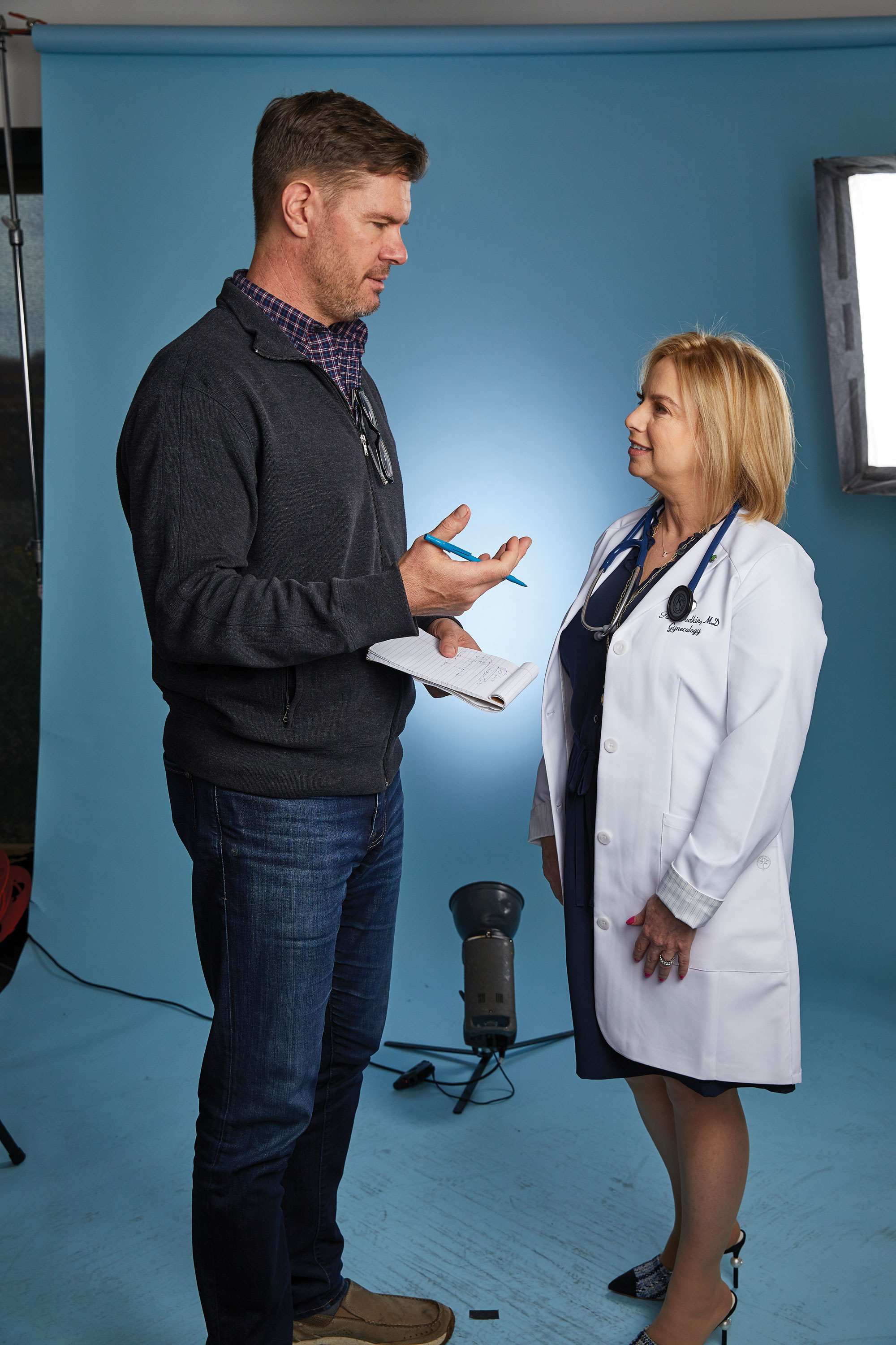 Chatting with OB-GYN Dr. Tara Brodkin; Photo by Steve Craft