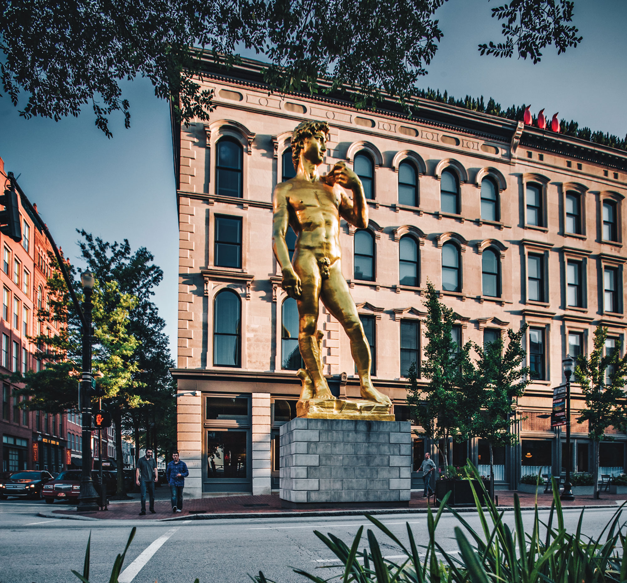 the statue of David downtown; Photo courtesy City of Louisville
