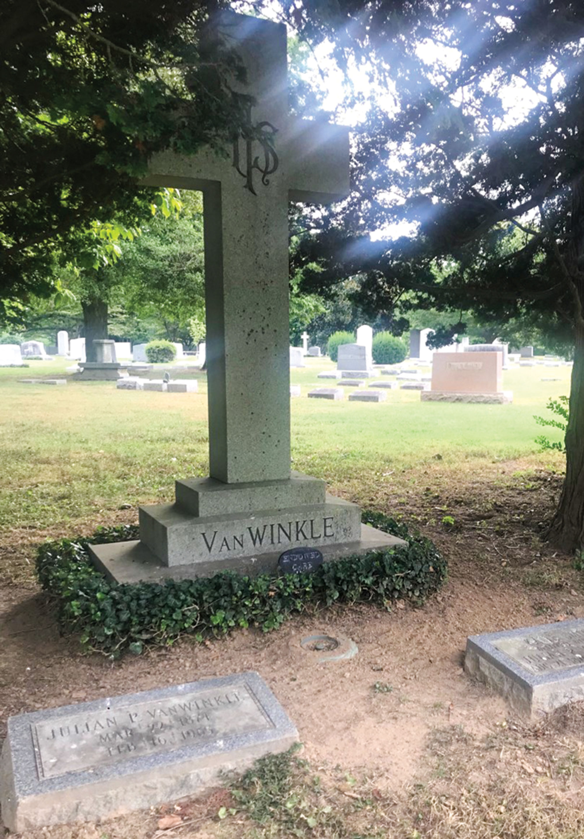 Pappy Van Winkle's final resting place at Cave Hill Cemetery; Photo courtesy City of Louisville