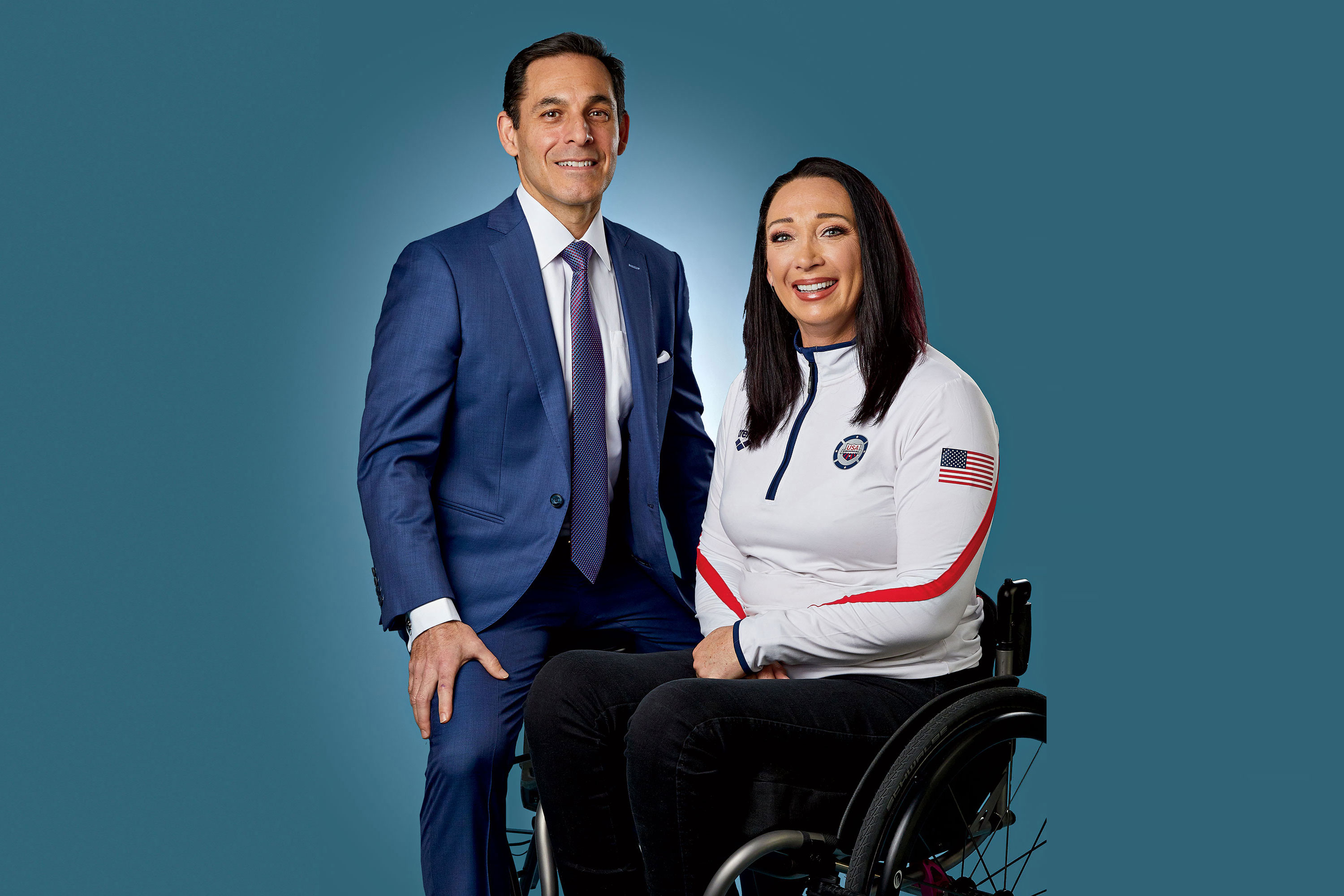 Olympian Recovery: In 2014, Olympic gold medal swimmer Amy Van Dyken-Rouen, below, severed her spinal cord in an ATV accident. With a spinal fracture between her T11 and T12 vertebrae that threatened to puncture her aorta, Van Dyken-Rouen was airlifted to Phoenix, where Dr. Luis Tumialán led the team that saved her life. She was given only a 20 percent chance of surviving the accident.; Photography by Steve Craft