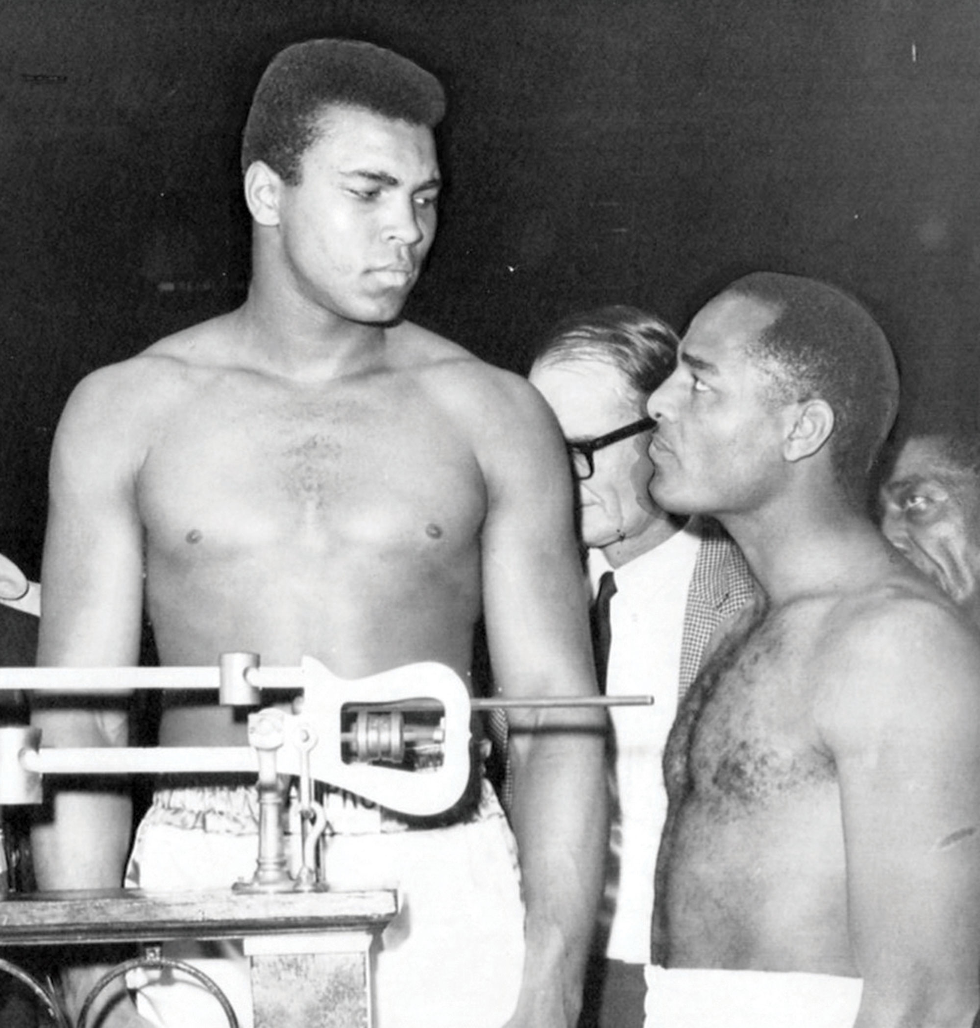 Muhammad Ali and Folley weigh in before their 1967 bout; Photo courtesy Chandler Museum
