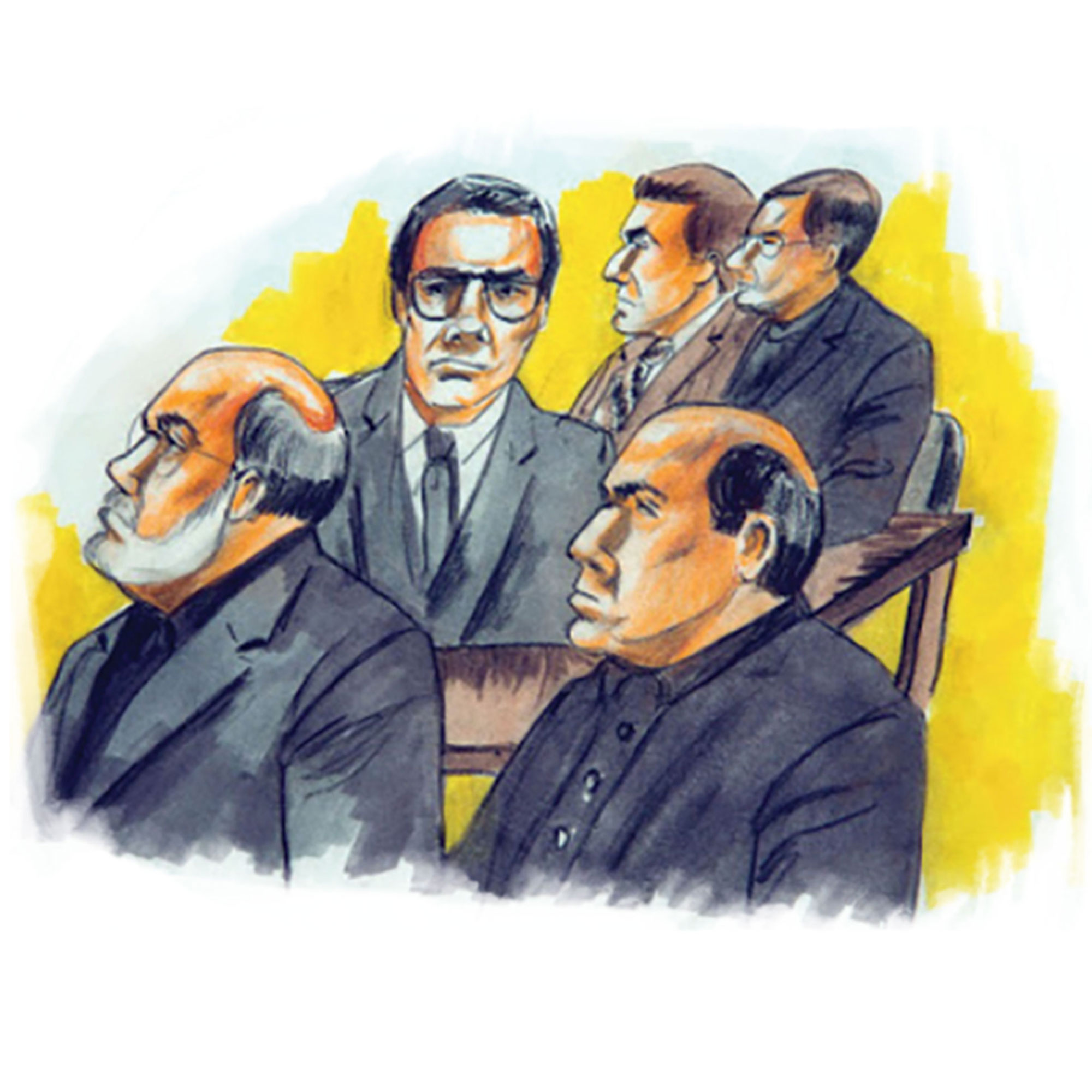 """defendants in the """"Operation Family Secrets"""" trial, August 2007"""