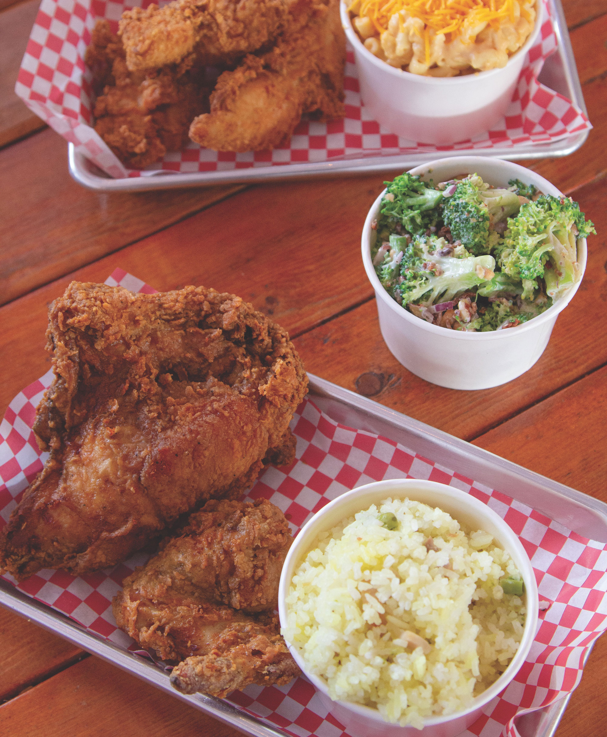 Fried chicken and sides at BirdHouse; Photo by Leah LeMoine