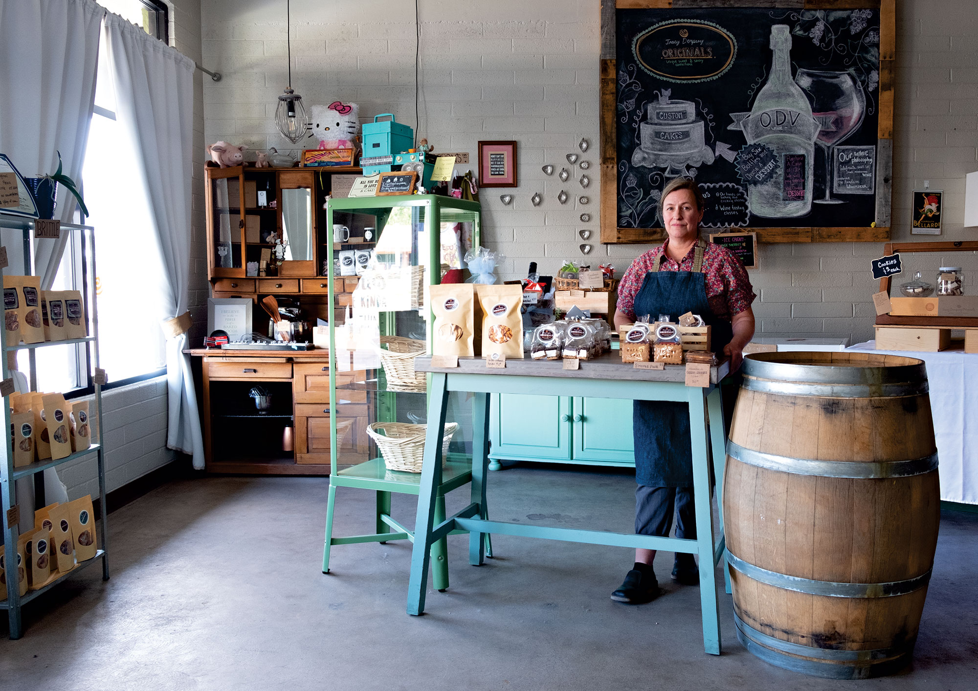 Tracy Dempsey in her Tempe storefront; Photography by Mirelle Inglefield