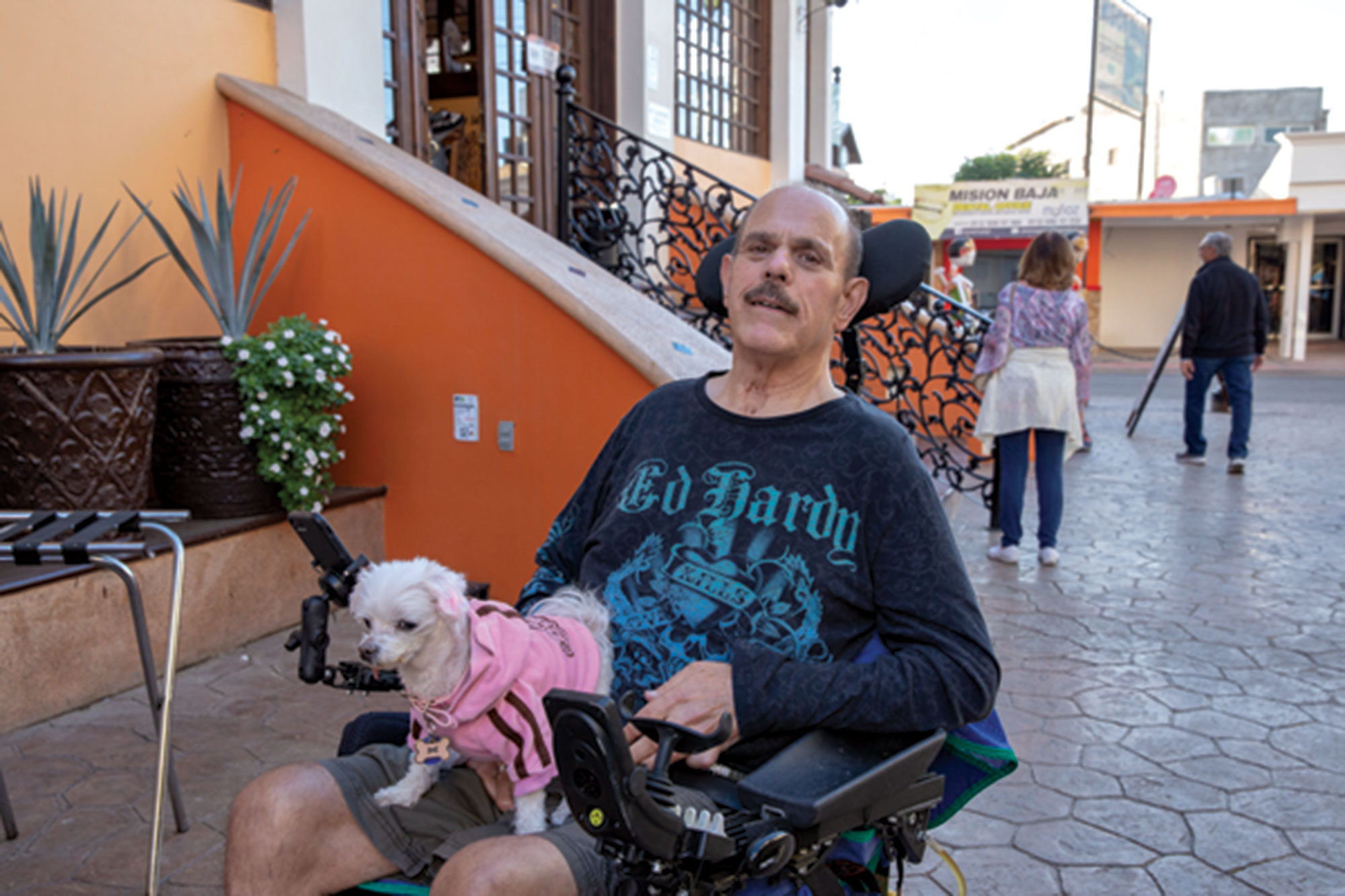 Photo by Anthony Wallace; Latina on the eve of his first round of stem cell injections
