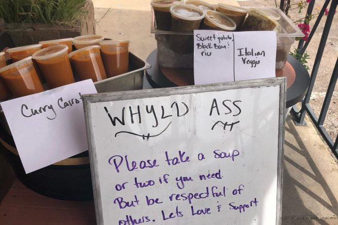 Whyld Ass Grill Gives Away Vegan Soup