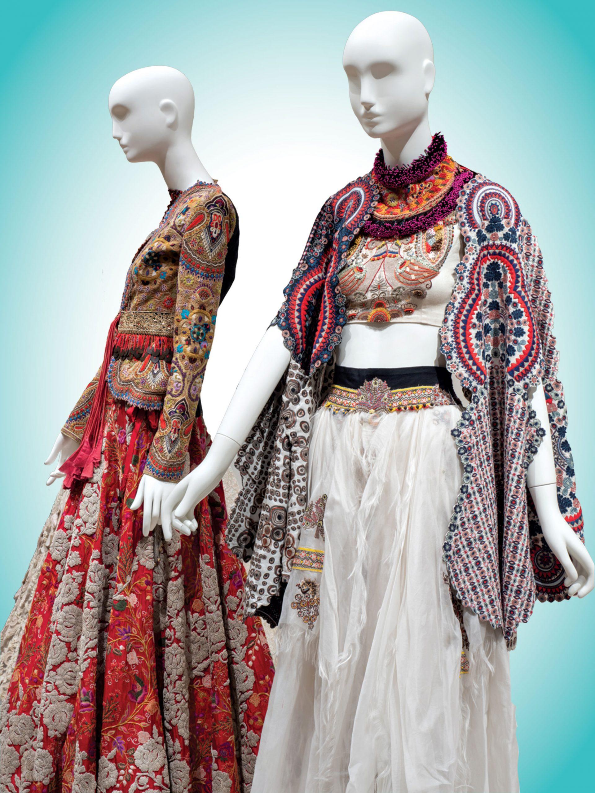 Installation view, India: Fashion's Muse, 2020, Phoenix Art Museum; Photo courtesy Phoenix Art Museum
