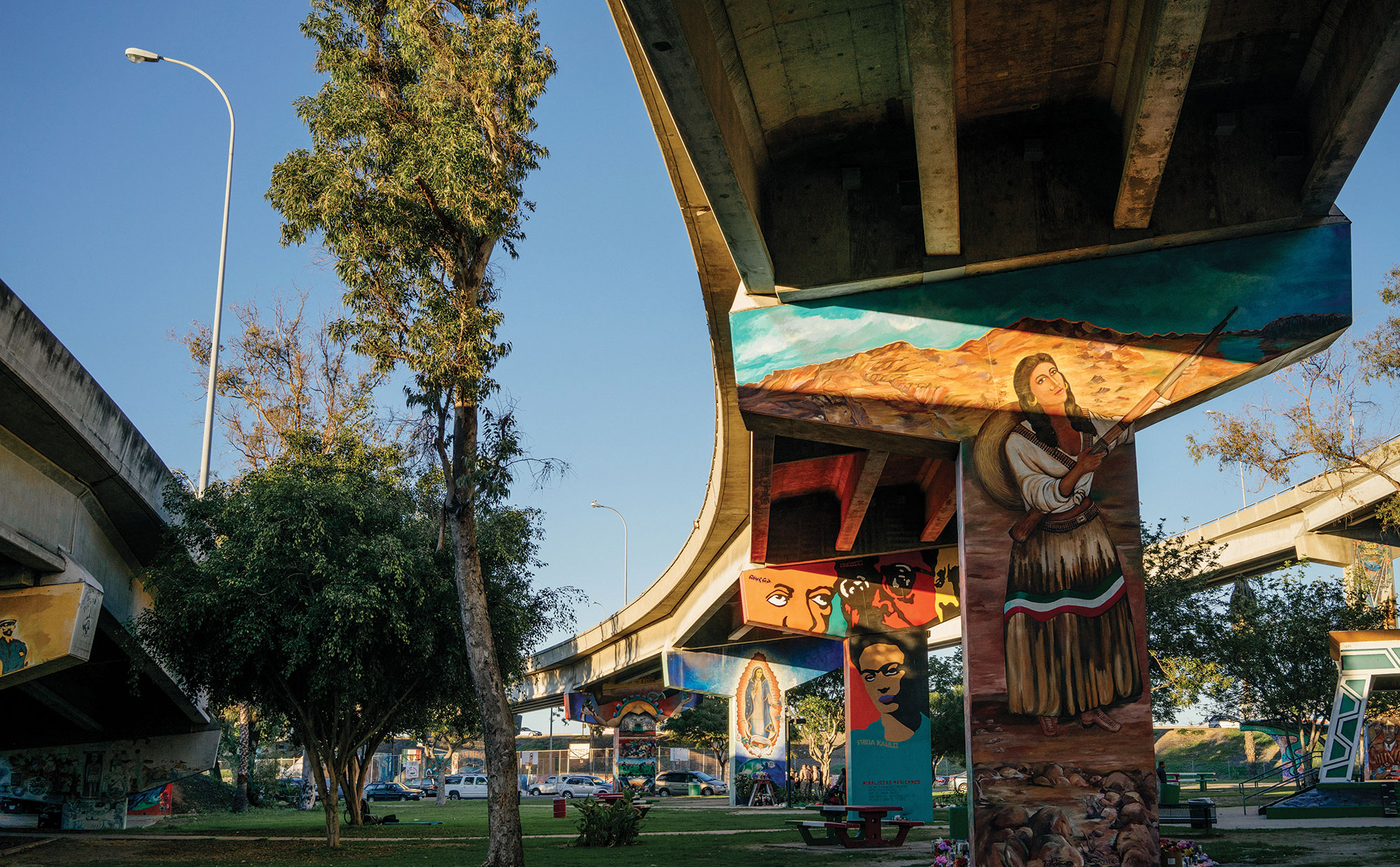 Murals at Chicano Park; Photo by Stacy Keck