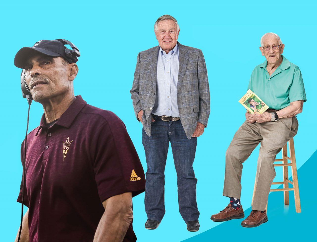 Left to right: Herm Edwards, Jerry Moyes, Sam Baker