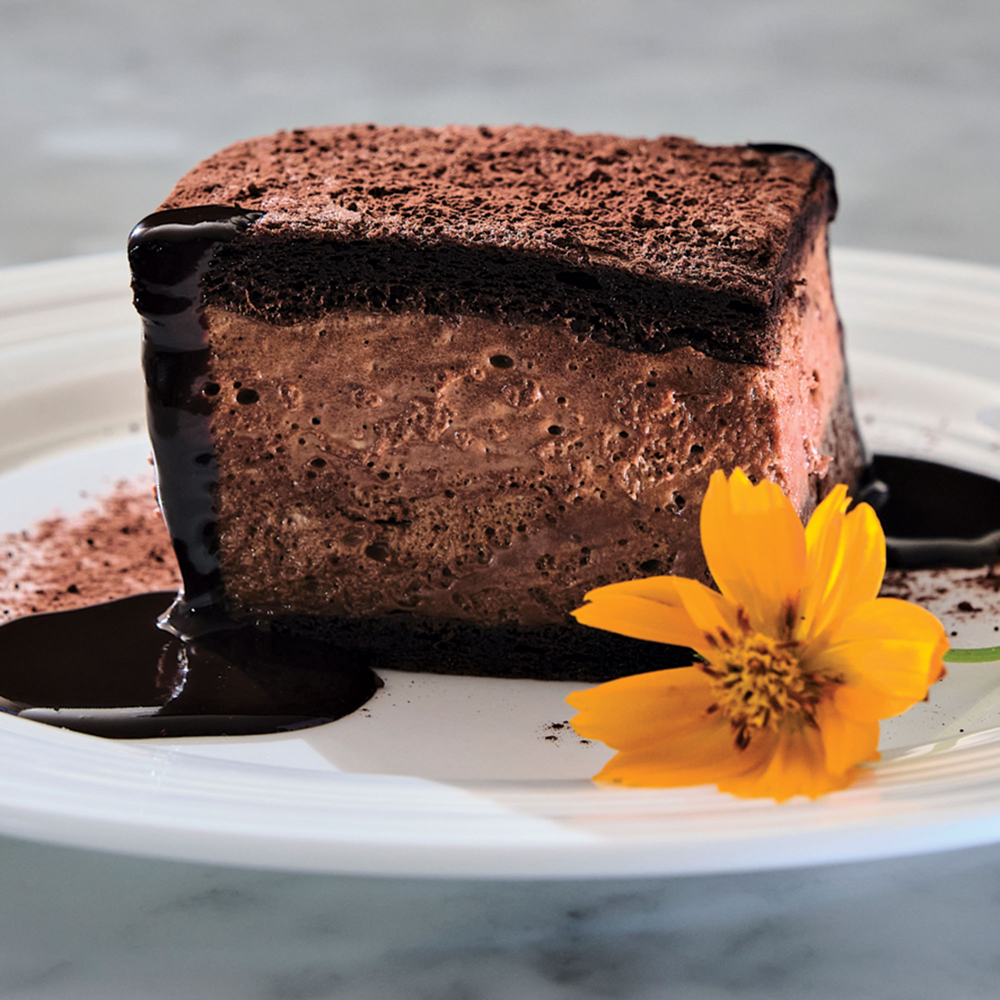 Maida's chocolate cake from FnB; Photography by Kyle Ledeboer