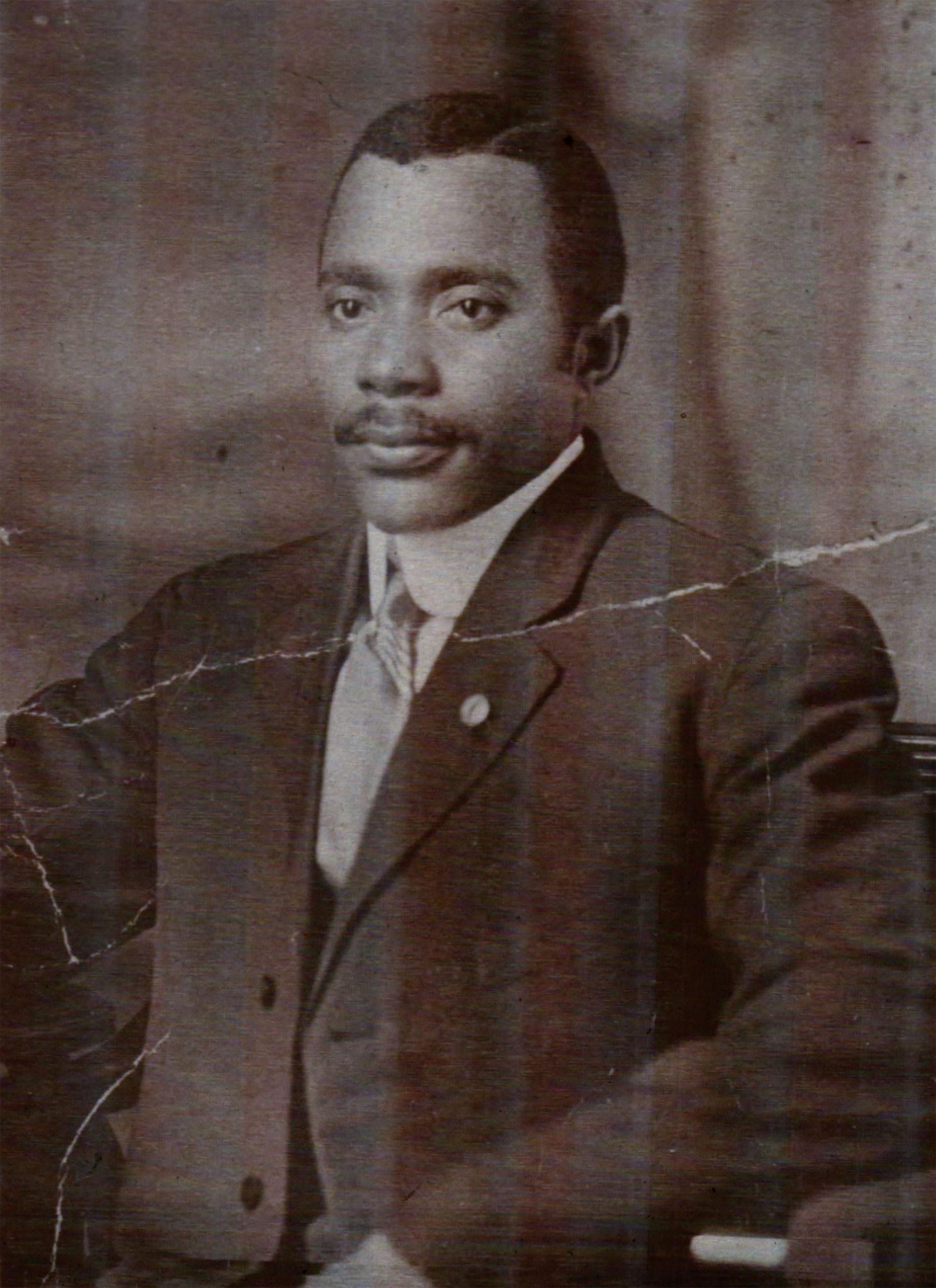 Dr. Winston Hackett, Arizona's first black physician, in 1916; Photo courtesy Winstona Hackett Aldridge