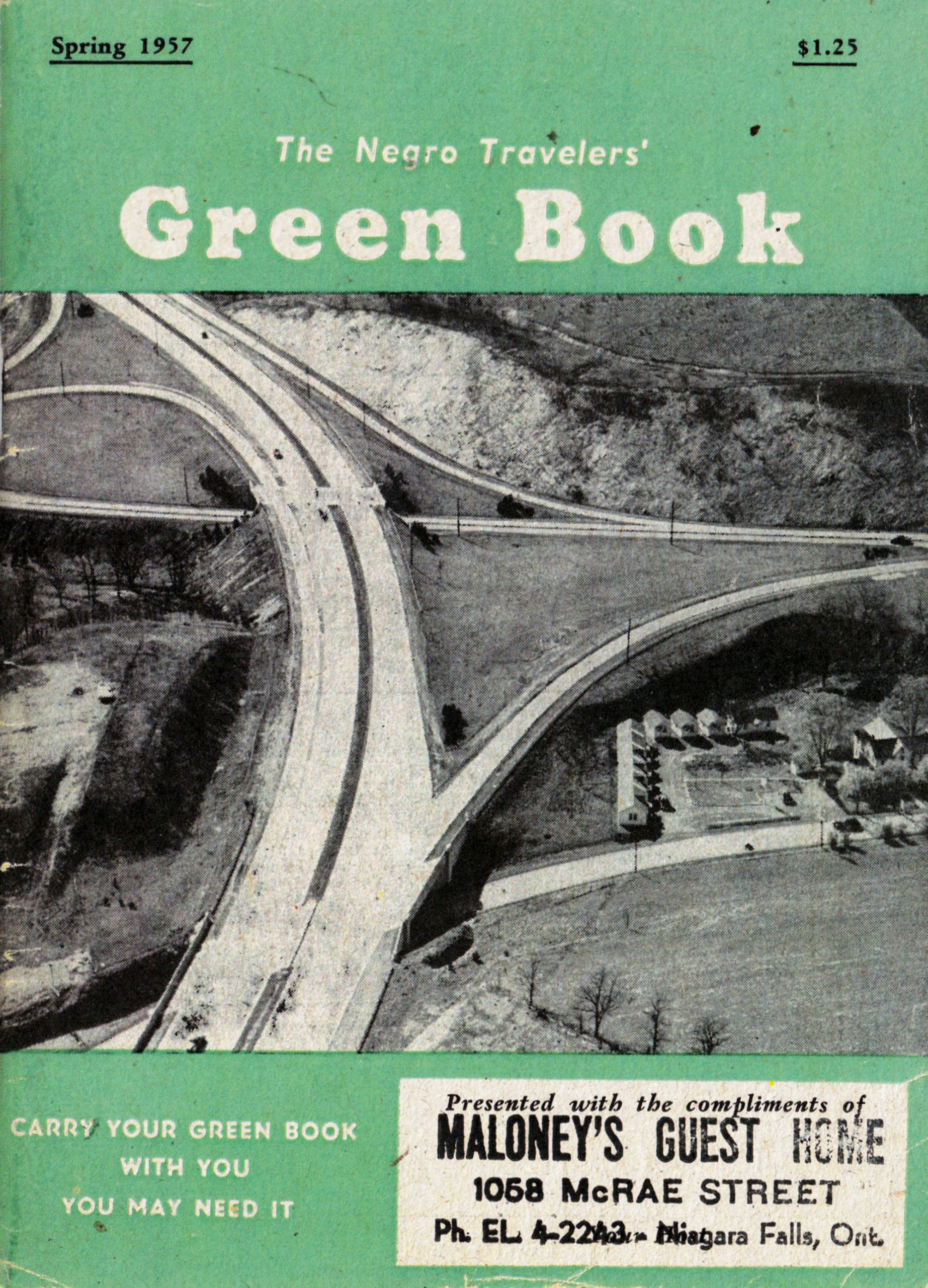 the 1957 edition of The Negro Travelers' Green Book; Photo courtesy Lyell Henry
