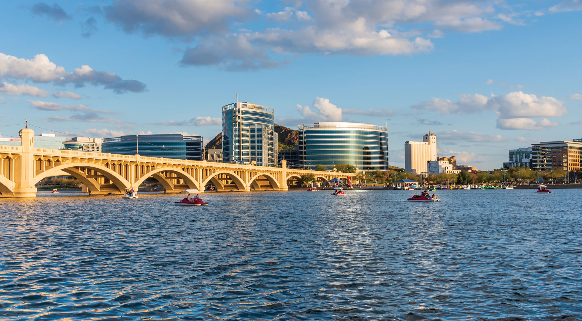 Paddleboats on Tempe Town Lake; Photo courtesy Adobe Stock Images