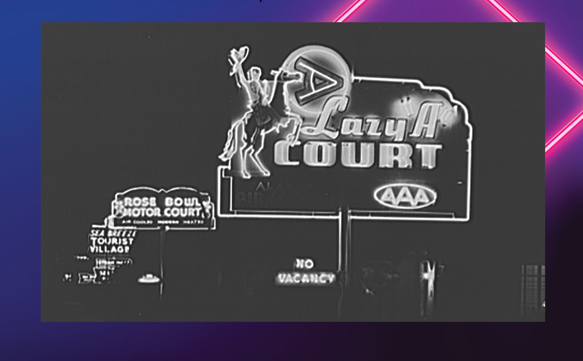 Arizona Motel, 2625 E. Van Buren St., 1940s; Photo courtesy Library of Congress
