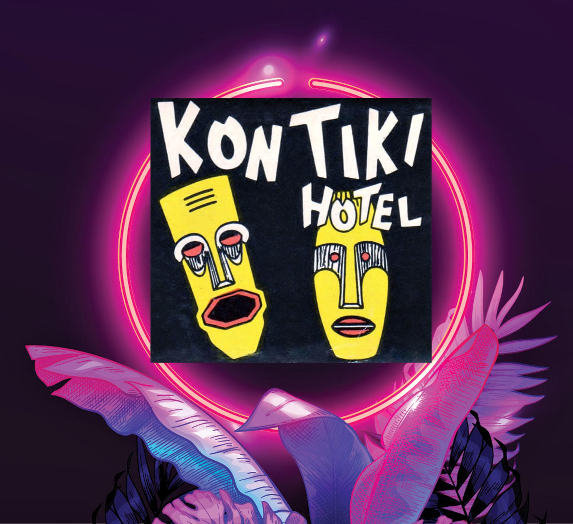matchbook cover from the Kon Tiki Hotel; Photo courtesy Douglas Towne