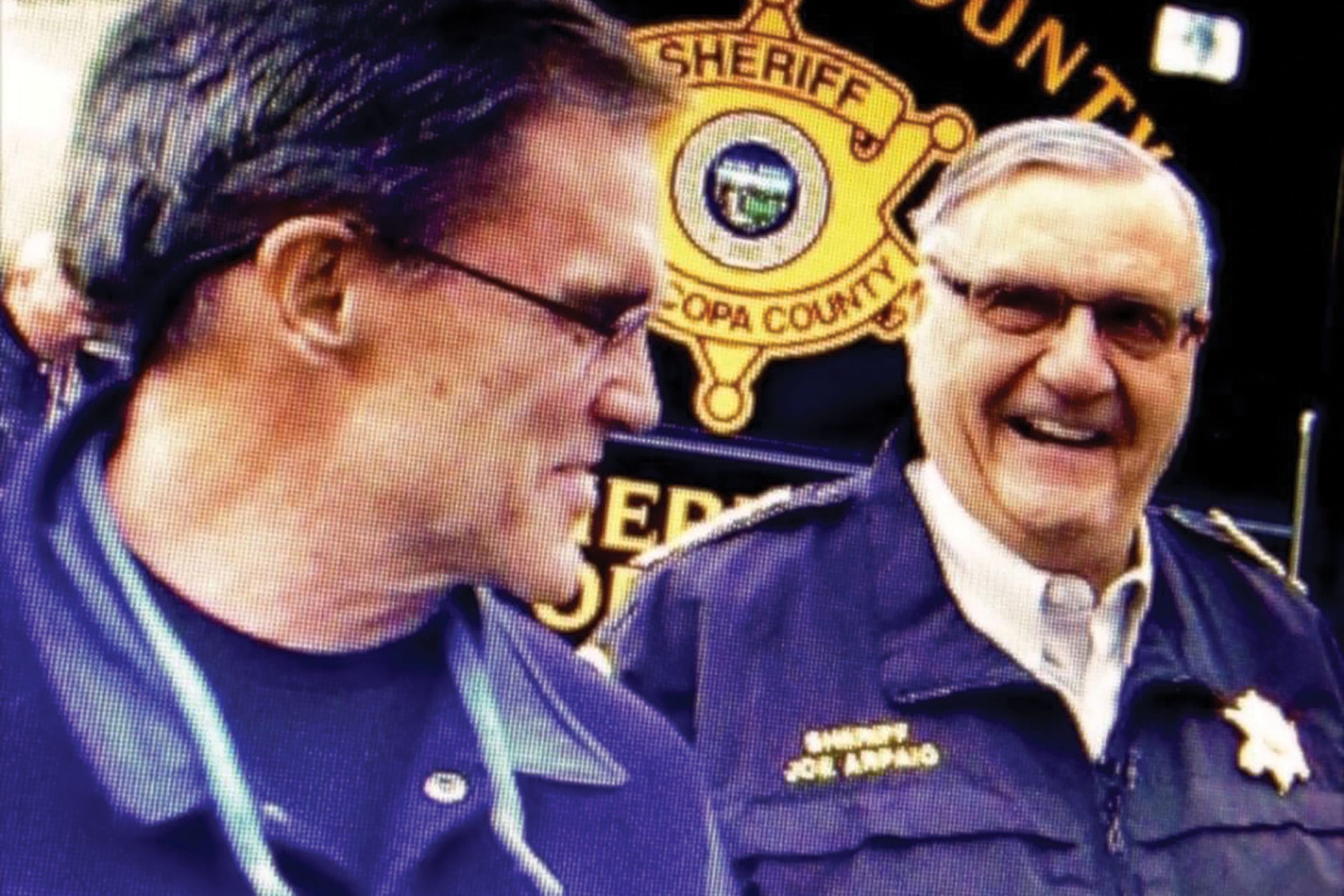 Watkiss with Sheriff Joe Arpaio before the latter's defeat in the 2016 election.; Photo courtesy Mike Watkiss